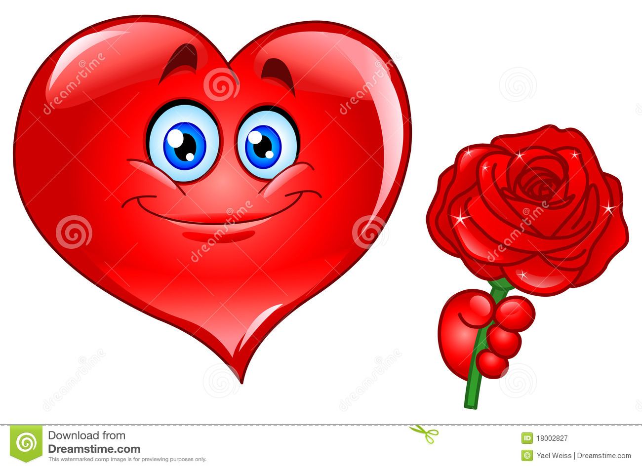 Heart With Rose Royalty Free Stock graphy Image