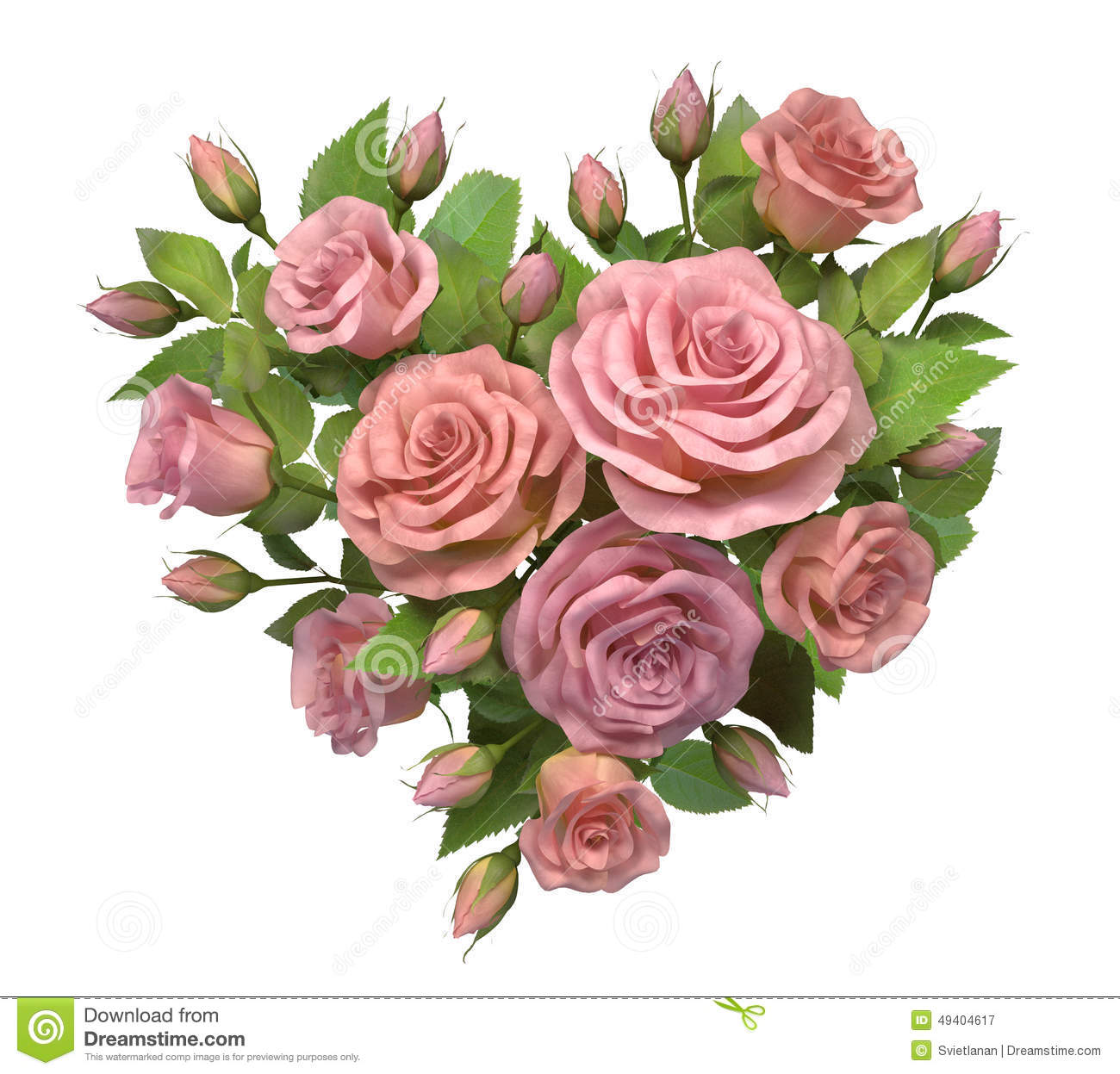 Heart from rose decoration stock illustration image of for Decoration or rose