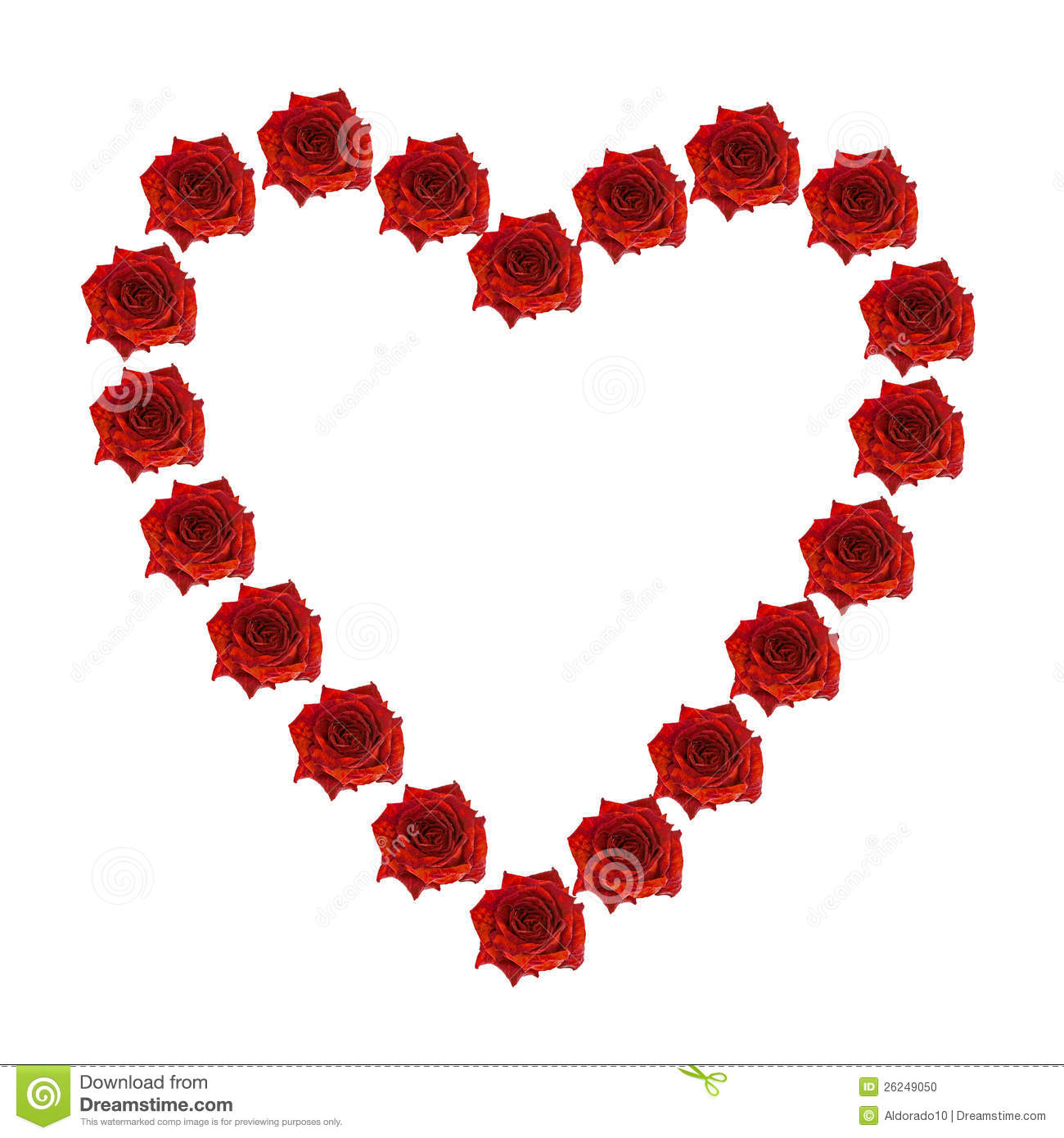 Heart Of Roses Stock Photo Image 26249050