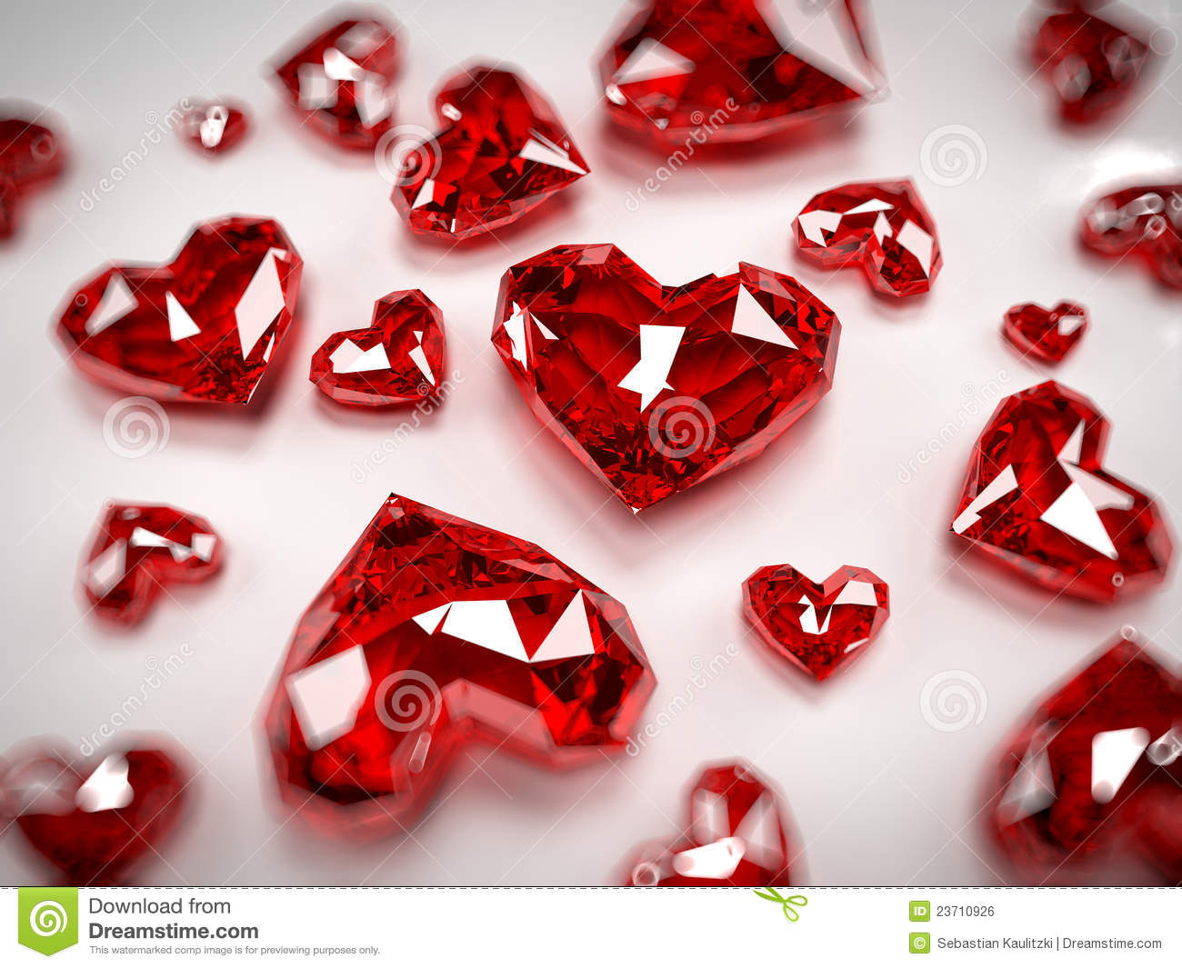 Heart Rubies Royalty Free Stock Image Image 23710926