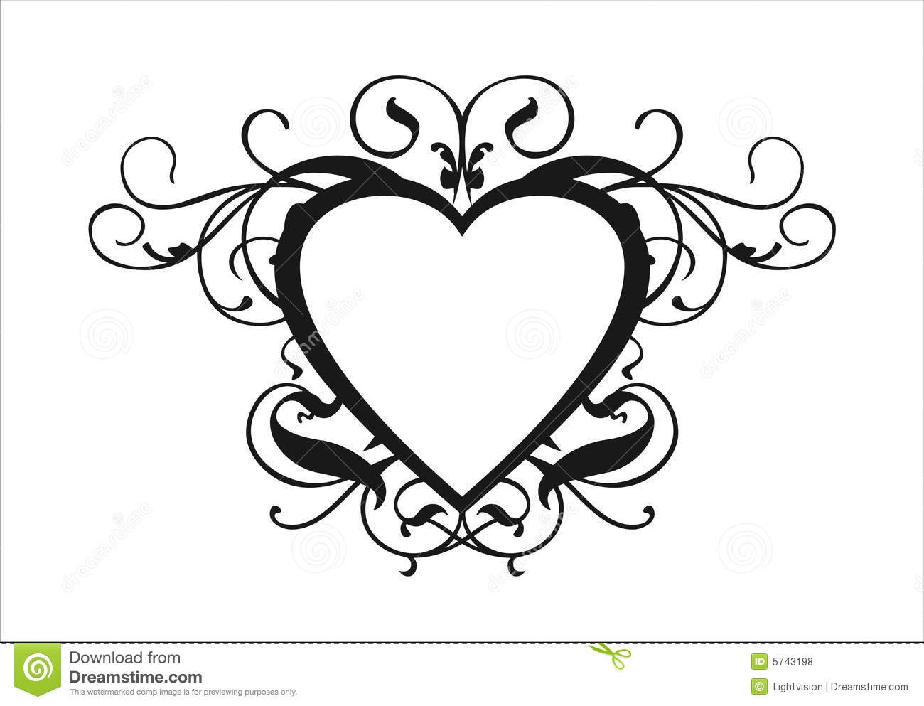 Heart Scroll Royalty Free Stock Photos - Image: 5743198