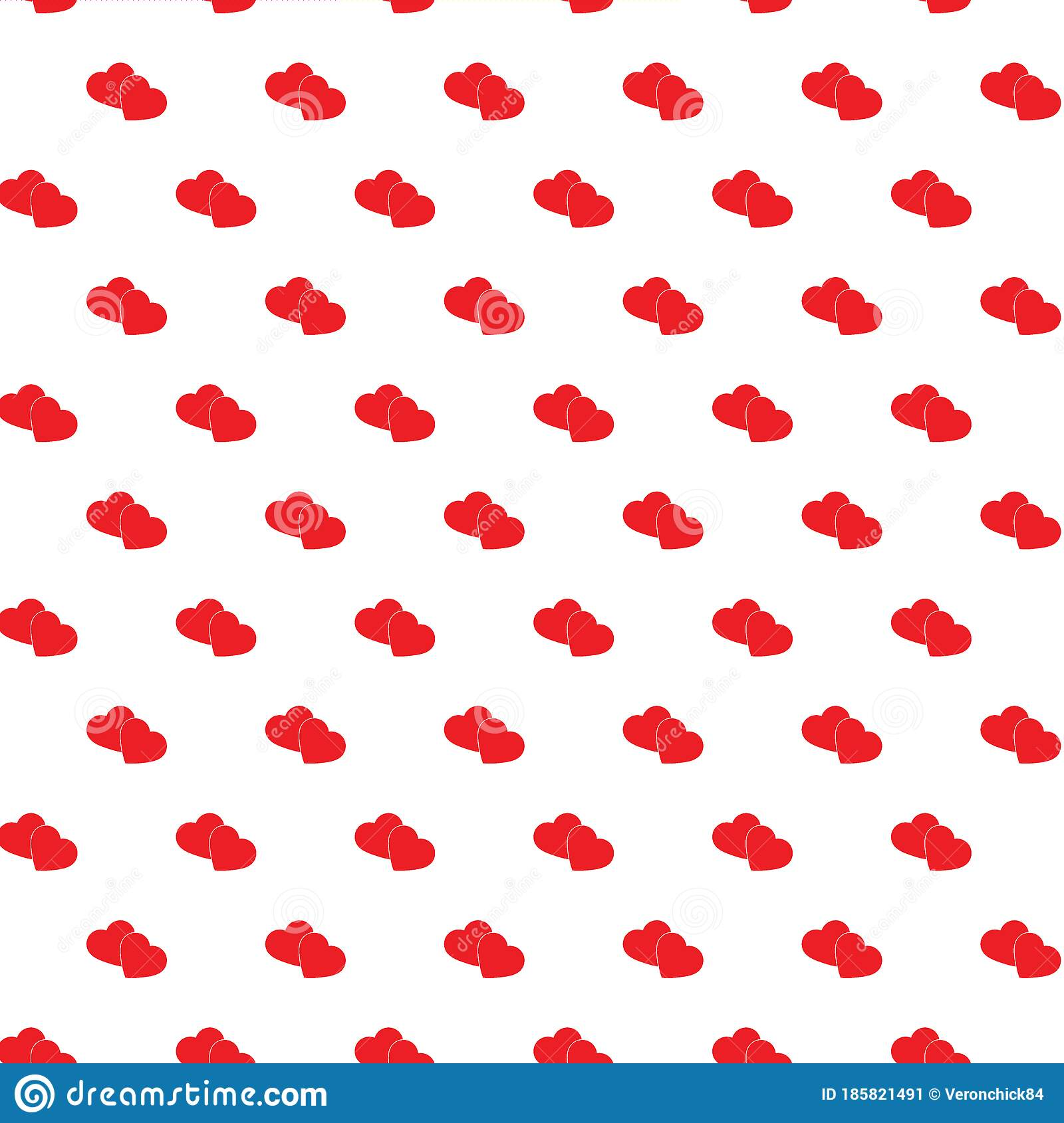 Heart Seamless Pattern Love Background Red Cartoon Texture For Kids Pattern For Children Background Stock Vector Illustration Of Element Modern 185821491