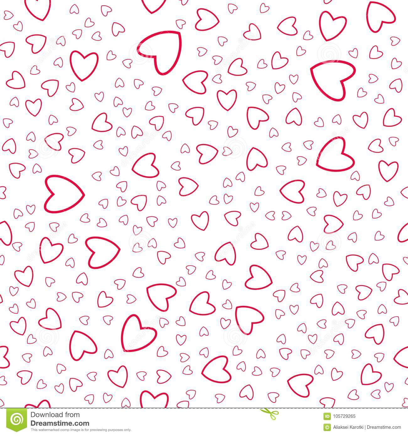 Heart Seamless Pattern For Prints Greeting Cards