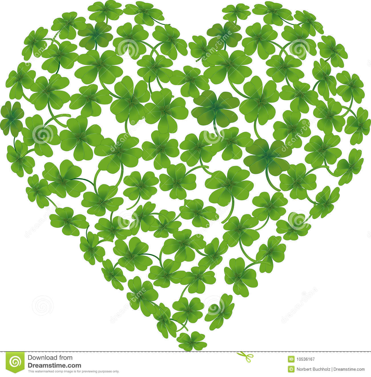 Heart Shamrock Royalty Free Stock Photography - Image: 10536167