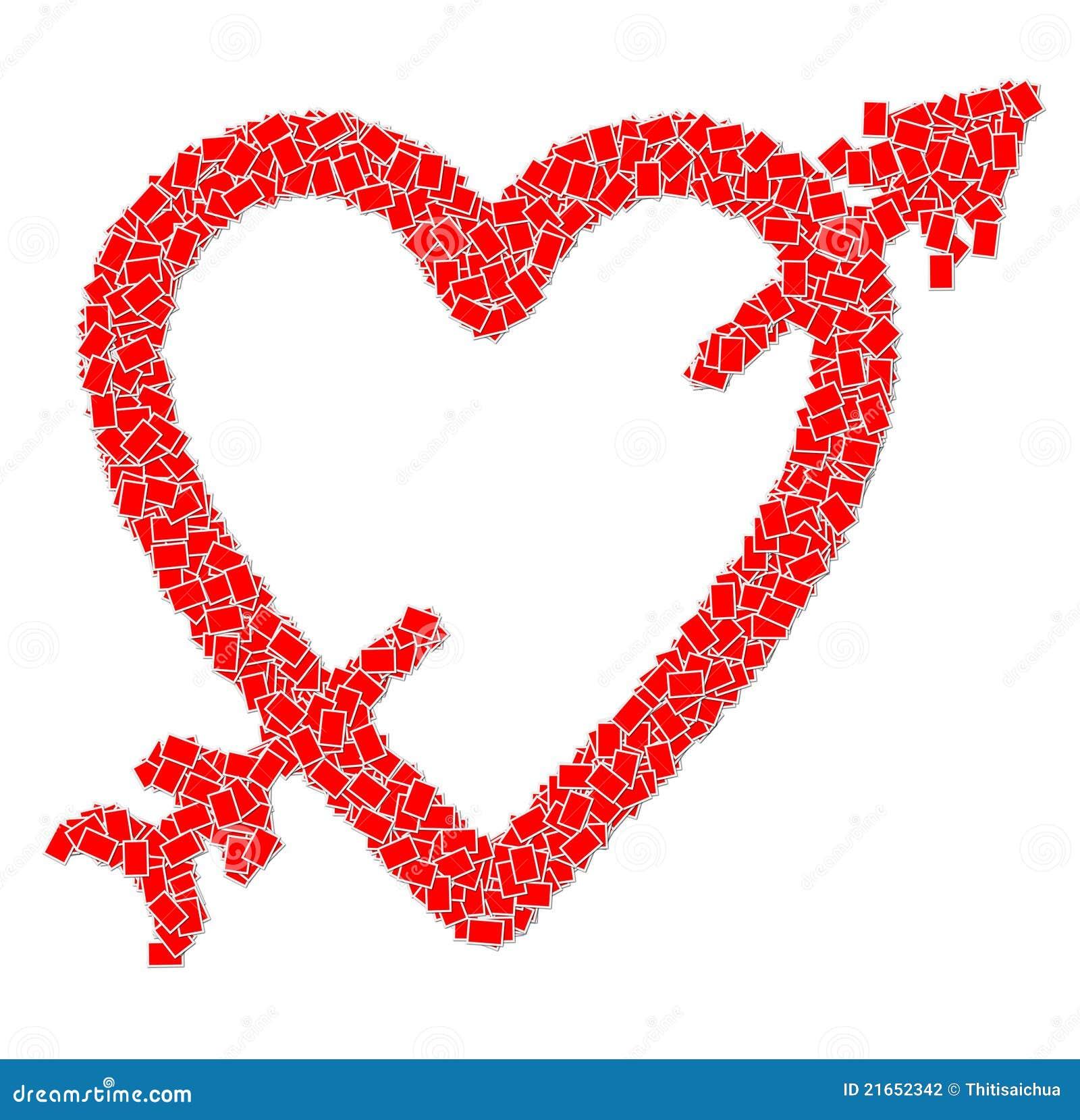 Heart Shape And Arrow Stock Illustration Illustration Of Romance