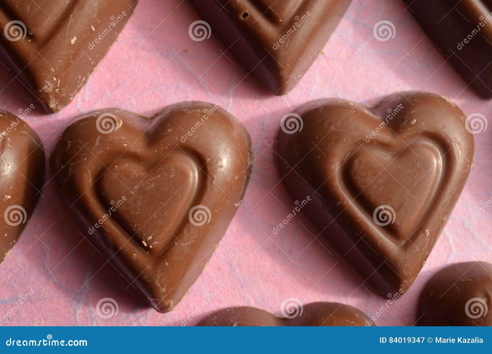 Heart Shape Chocolate Valentines Day Symbols Of Love Stock Image