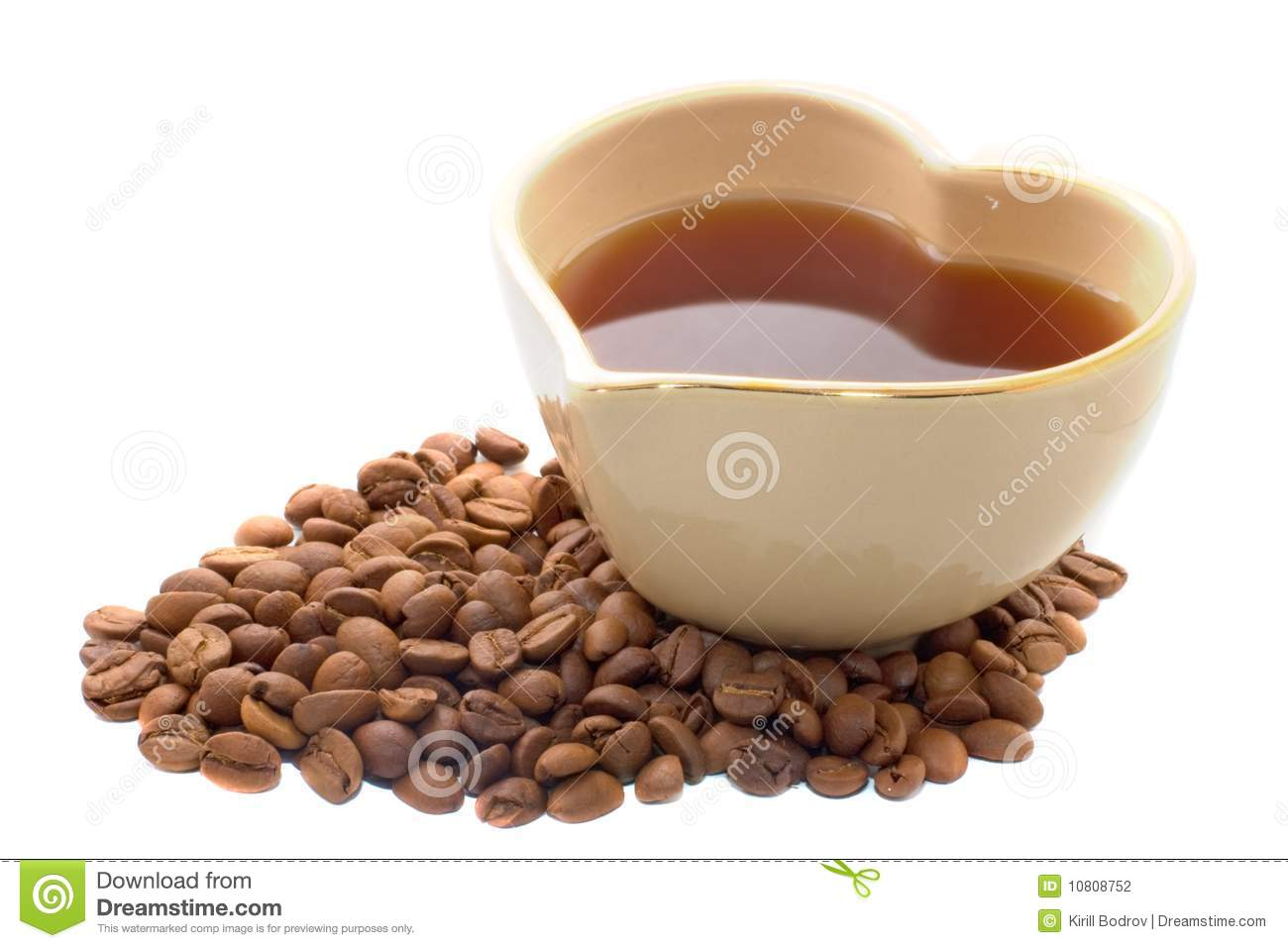 Heart Shape Coffee Cup Stock Photography Image 10808752