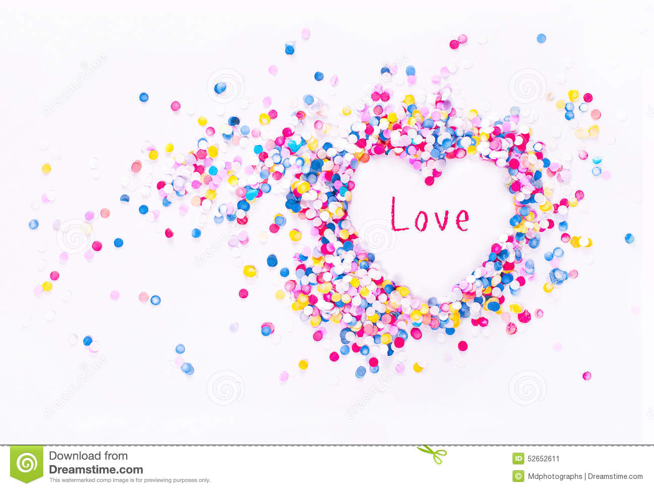 Heart shape in confetti with sample text stock image image of heart shape in confetti with sample text stock image image of celebration craft 52652611 thecheapjerseys