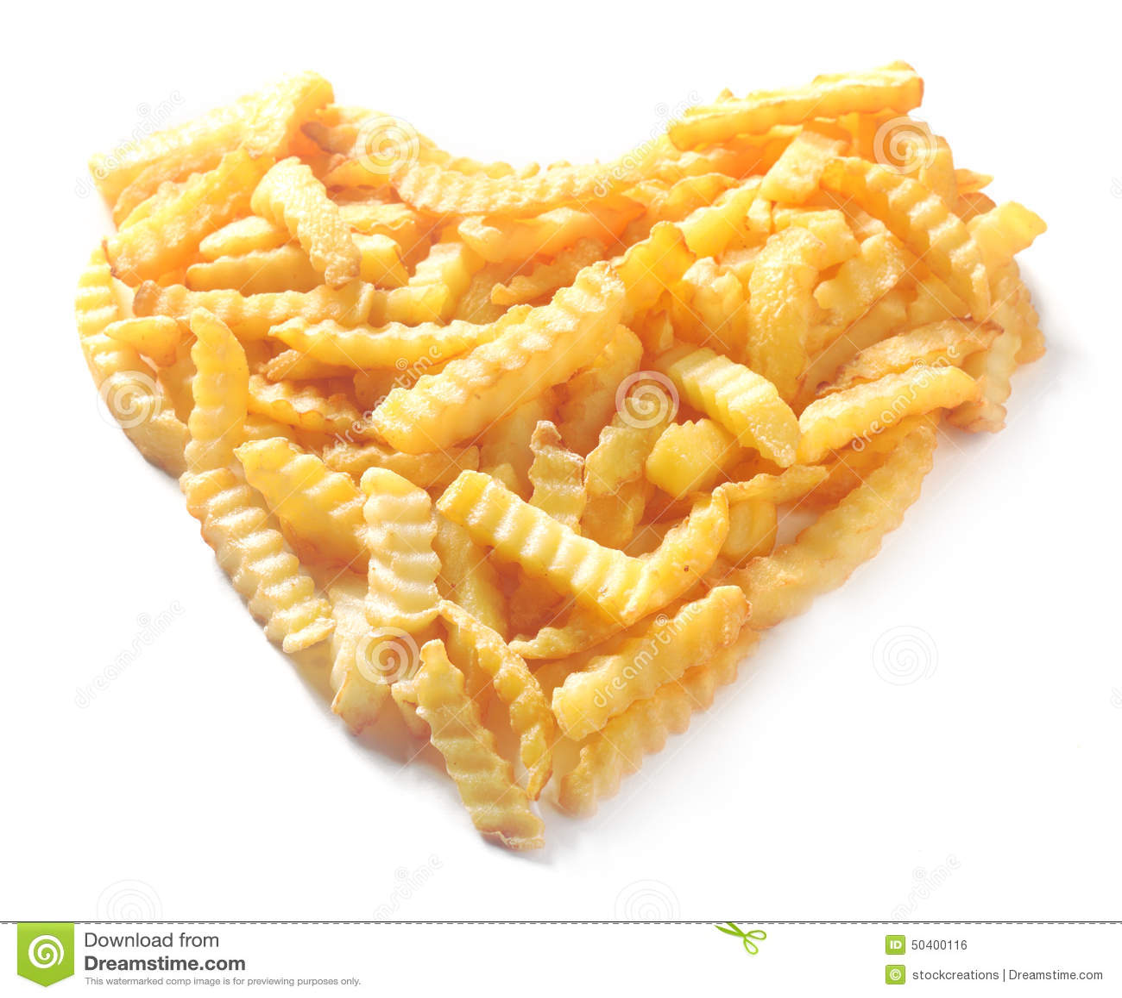 Heart Shape From Crinkle Cut Potato Chips Stock PhotoImage