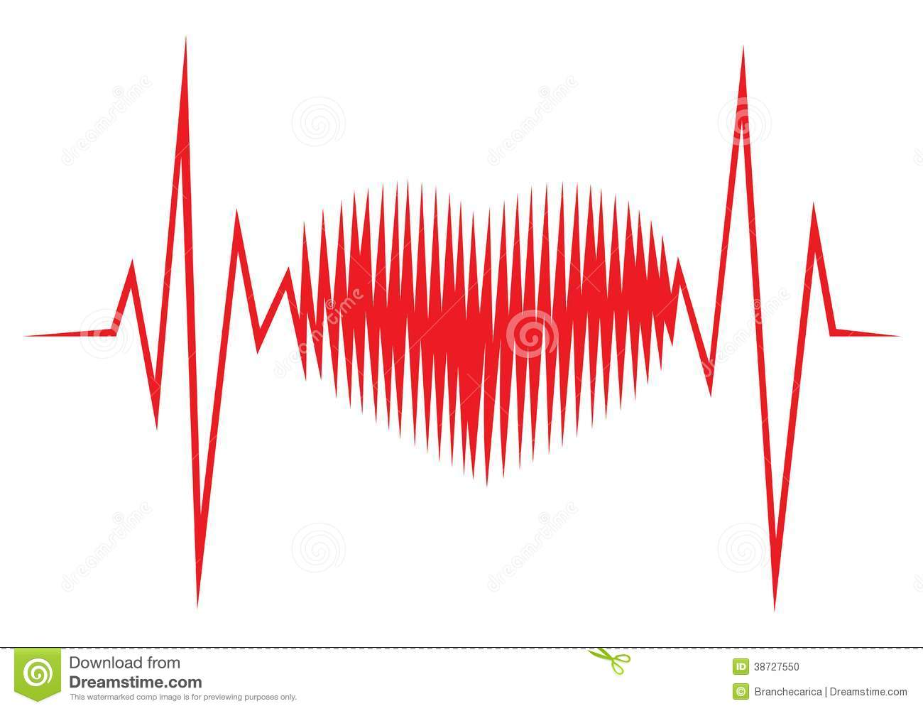 Heart Shape ECG Line Stock Photo - Image: 38727550