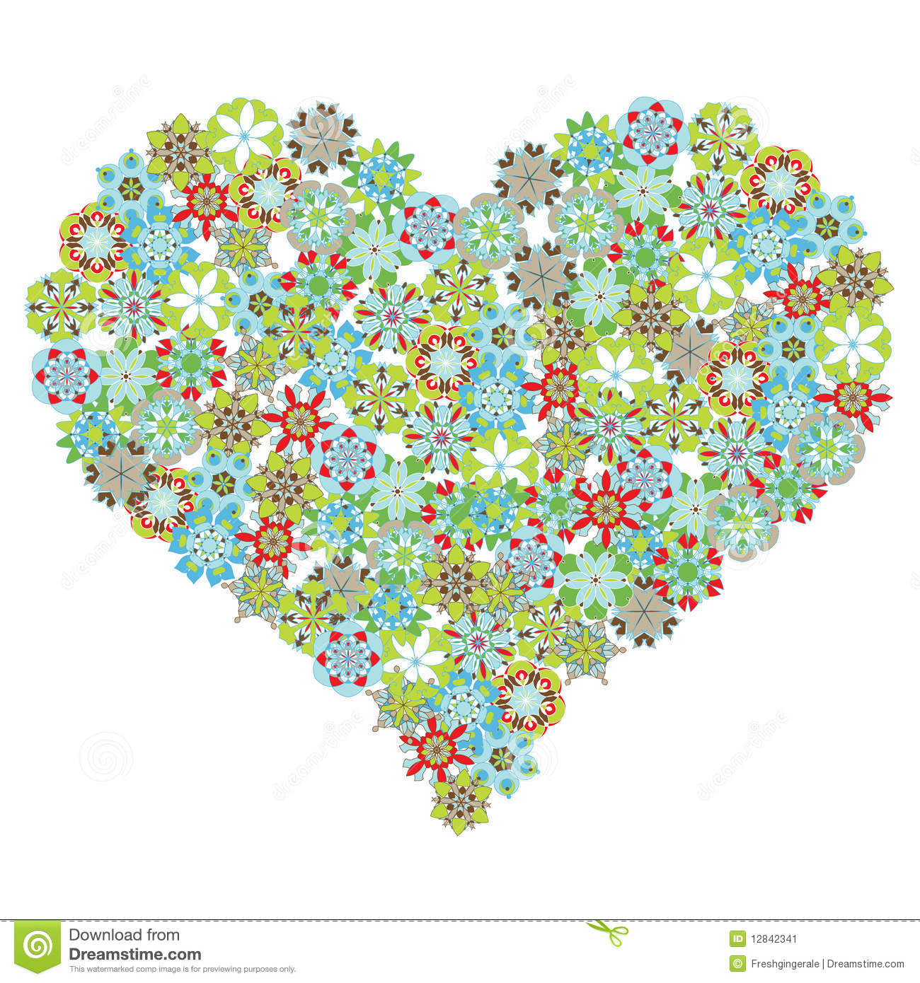 heart shape with flowers royalty free stock images  image, Beautiful flower