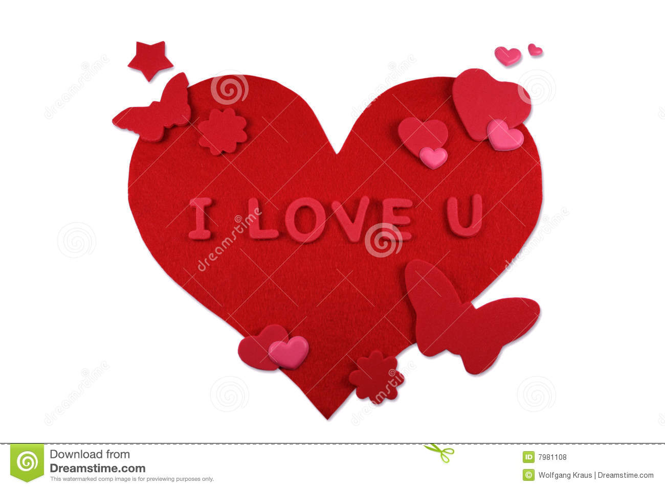 Heart Shape With Flowers And Butterflies Stock Photo Image
