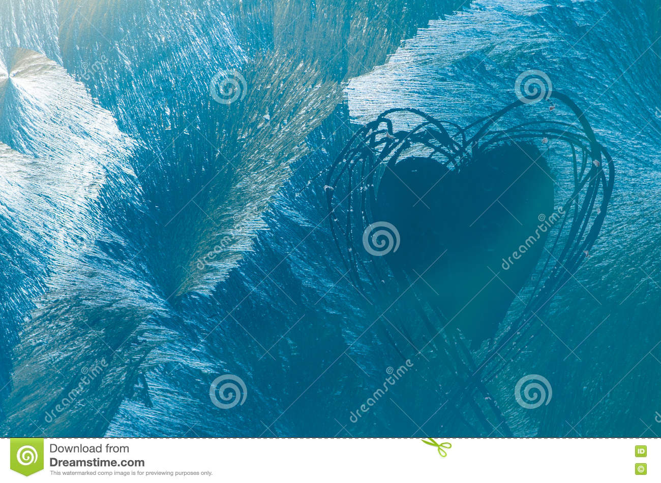heart shape in frosty windos stock photo image of space pattern