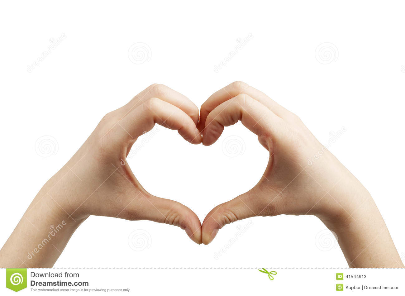 Heart Shape Hands On White Stock Image. Image Of Feelings