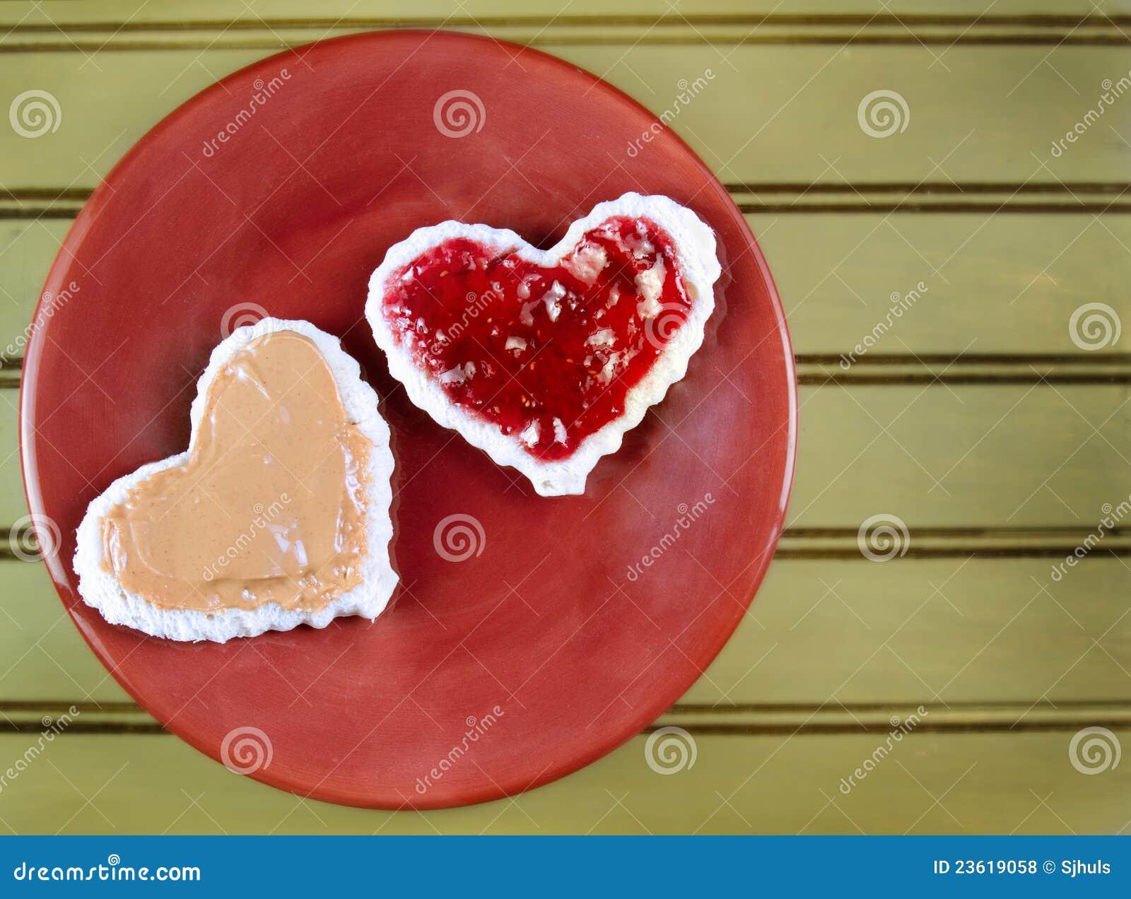 Peanut Butter And Jelly Heart heart shape peanut butter and jelly ...