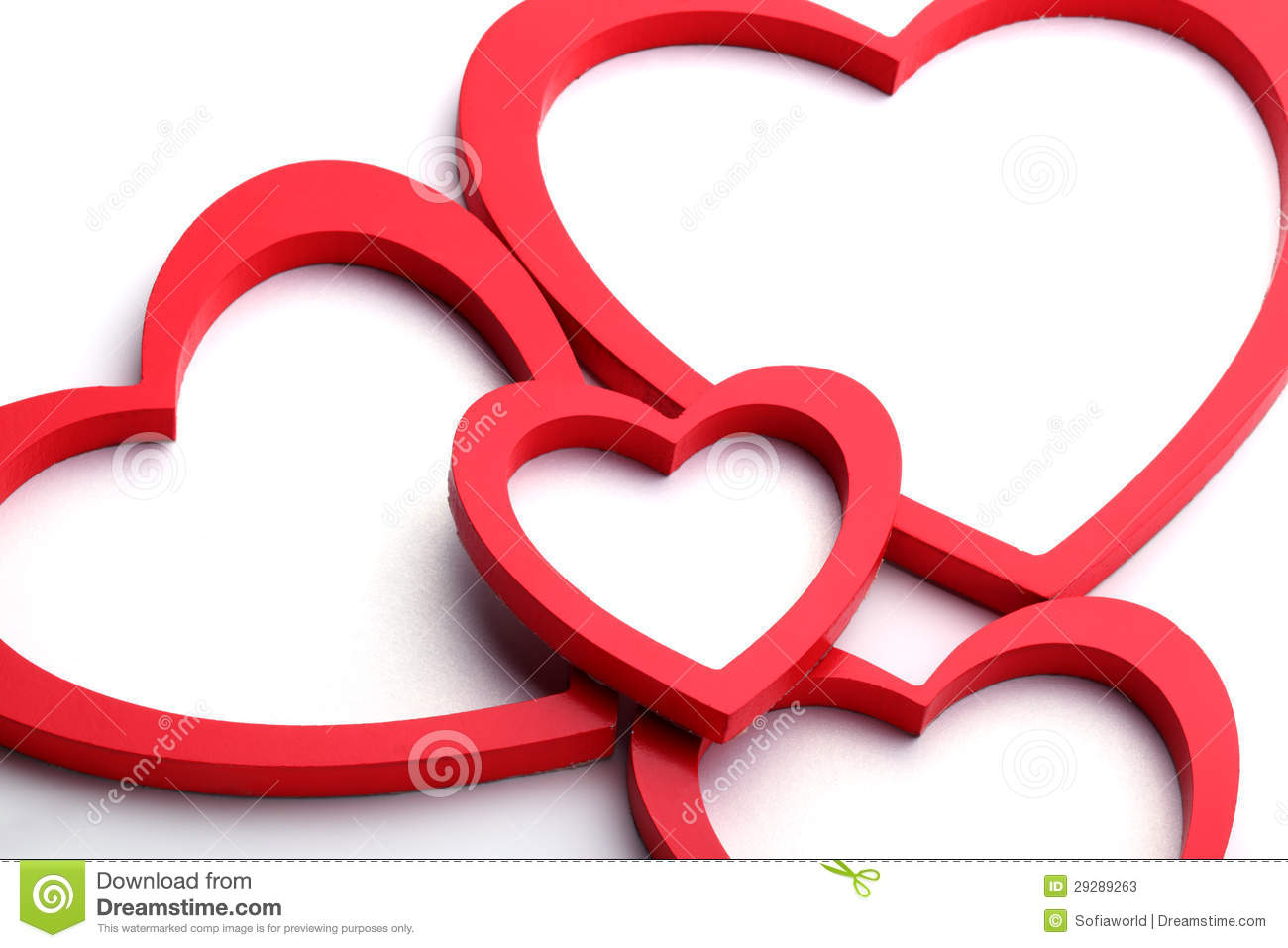 Heart Shape Picture Frame Stock Photos - Image: 29289263
