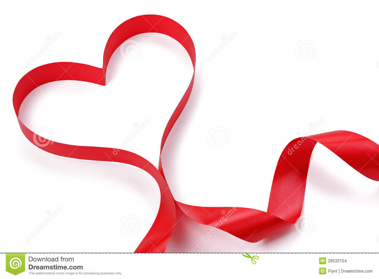 Heart Shape Red Ribbon Stock Images - Image: 28532154