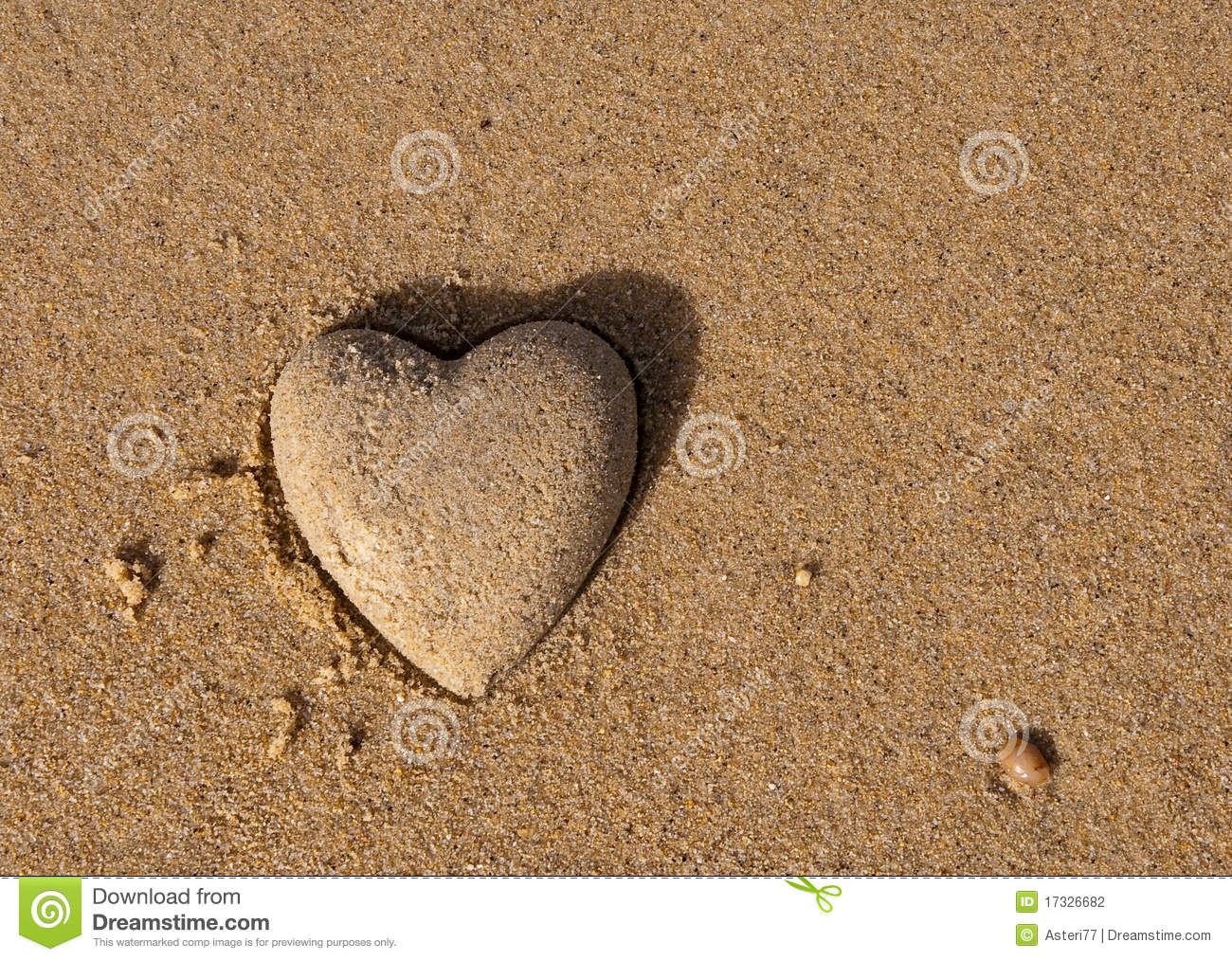 Heart shape of the sand a symbol of love stock photo image of heart shape of the sand a symbol of love biocorpaavc Images