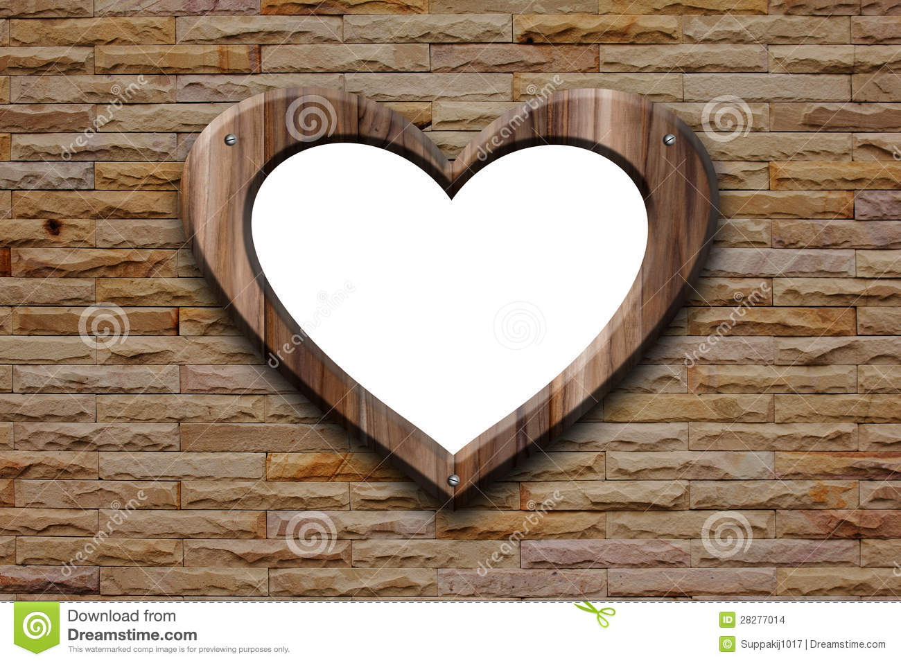 Wooden Heart Shaped Picture Frames
