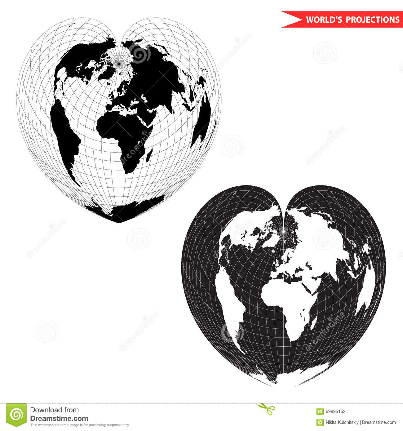 Heart shape world map stock vector illustration of concept 69995152 heart shape world map gumiabroncs Image collections
