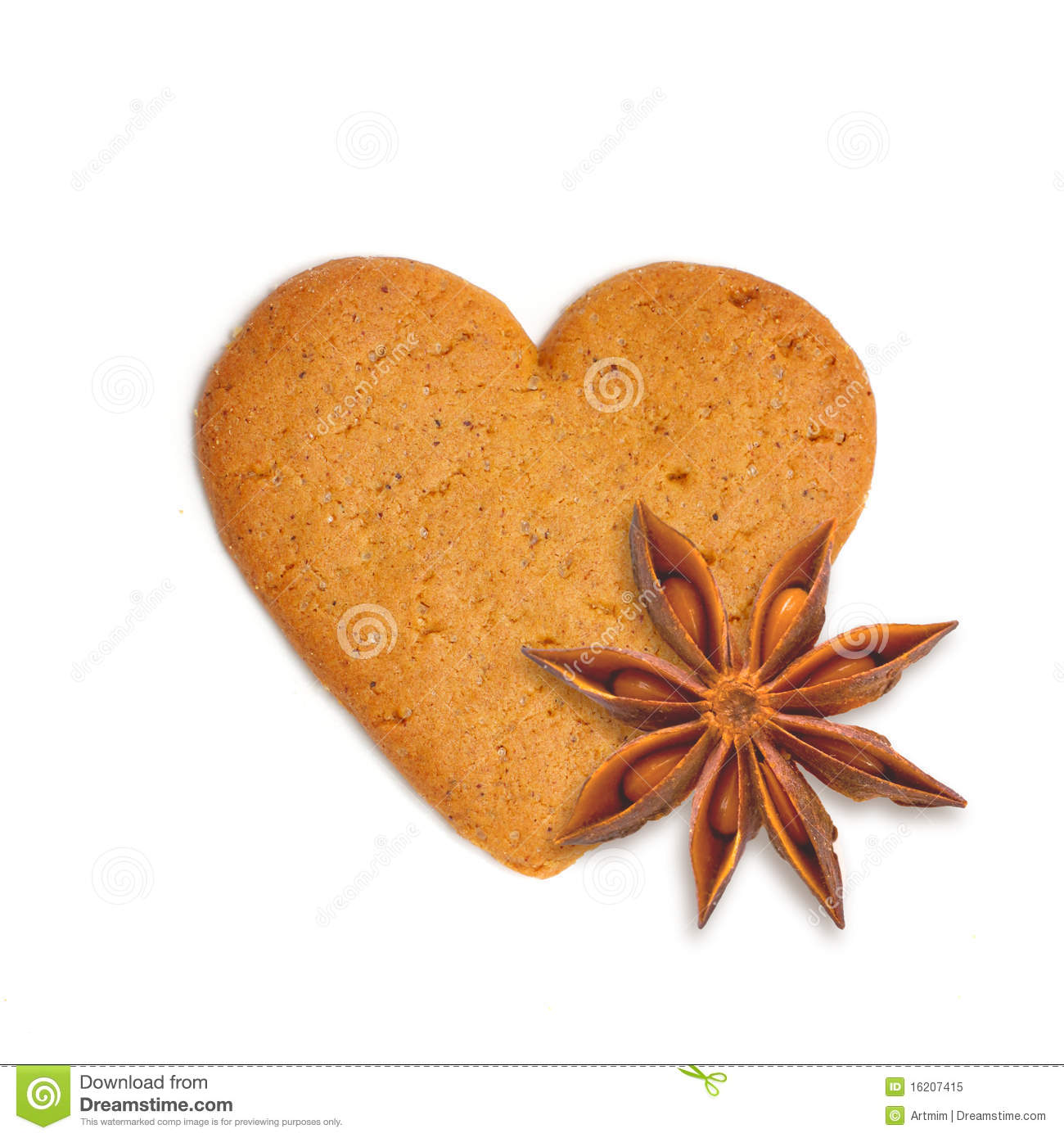 Heart Shaped Cake Stock Photos : Heart Shape Xmas Cake With Spice Anis Royalty Free Stock ...