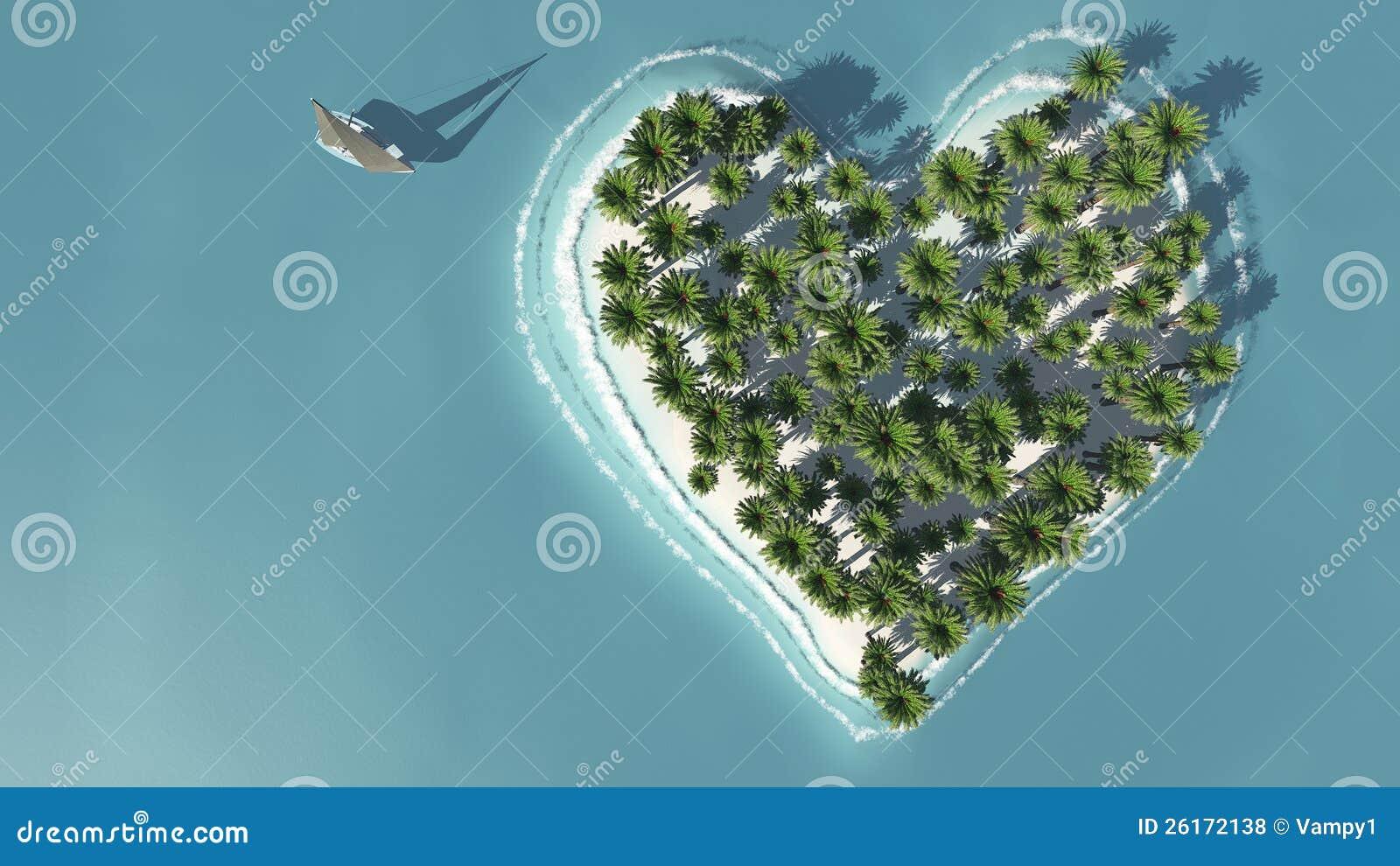 Heart-shaped ösikt från över