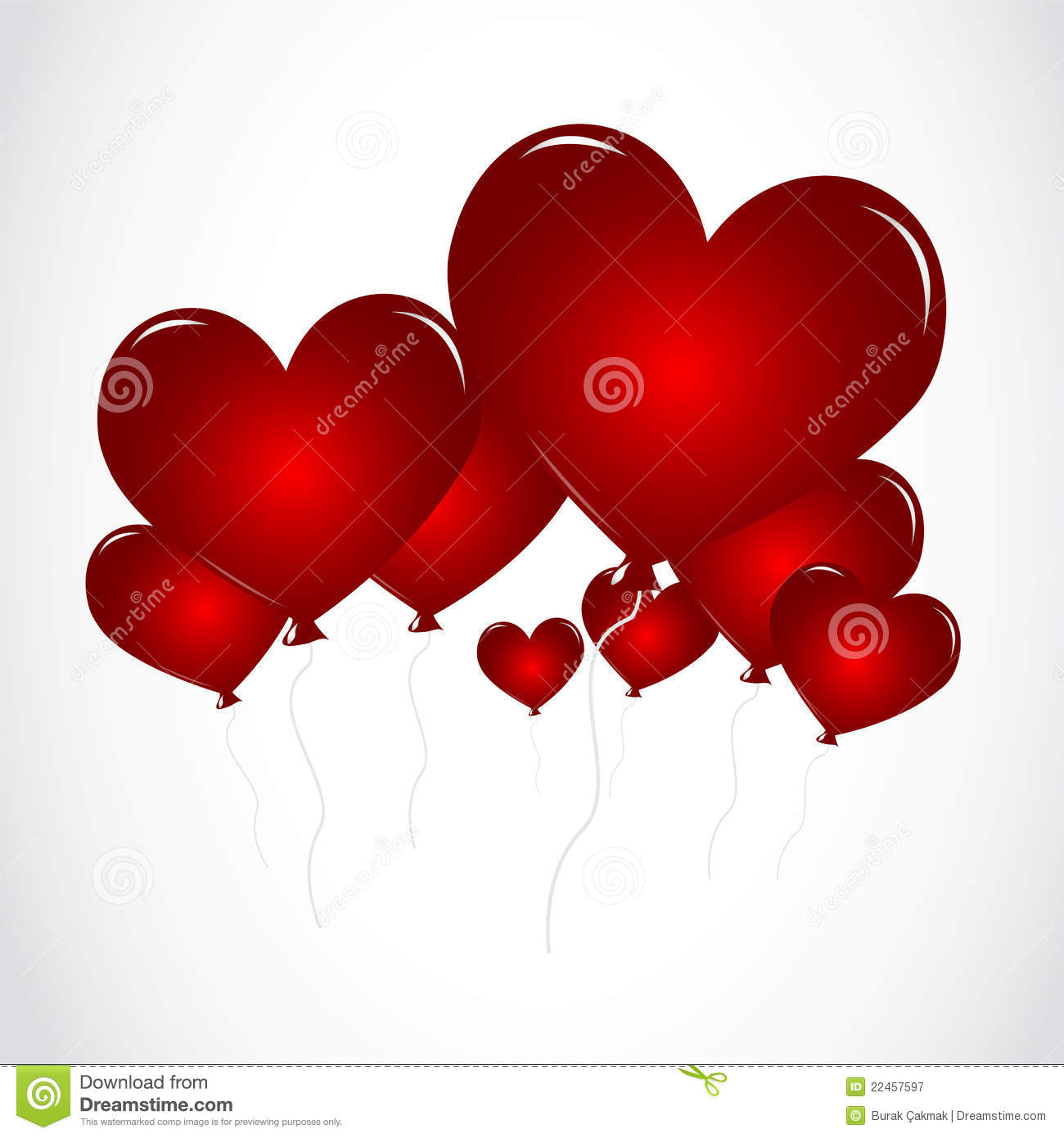 Heart Shaped Balloons Royalty Free Stock Photography - Image: 22457597