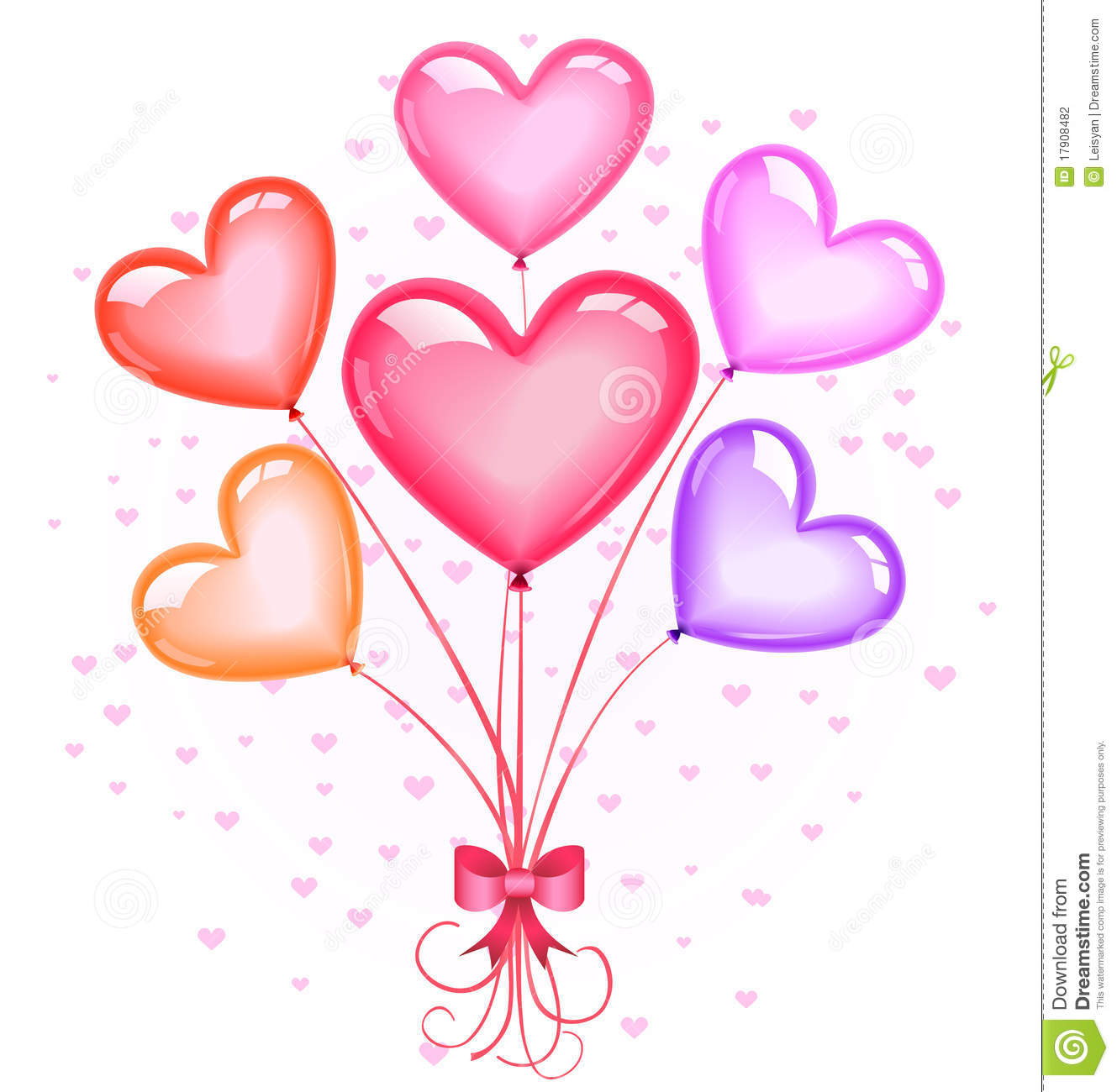 Heart-shaped Balloons Bouquet Stock Photography - Image: 17908482