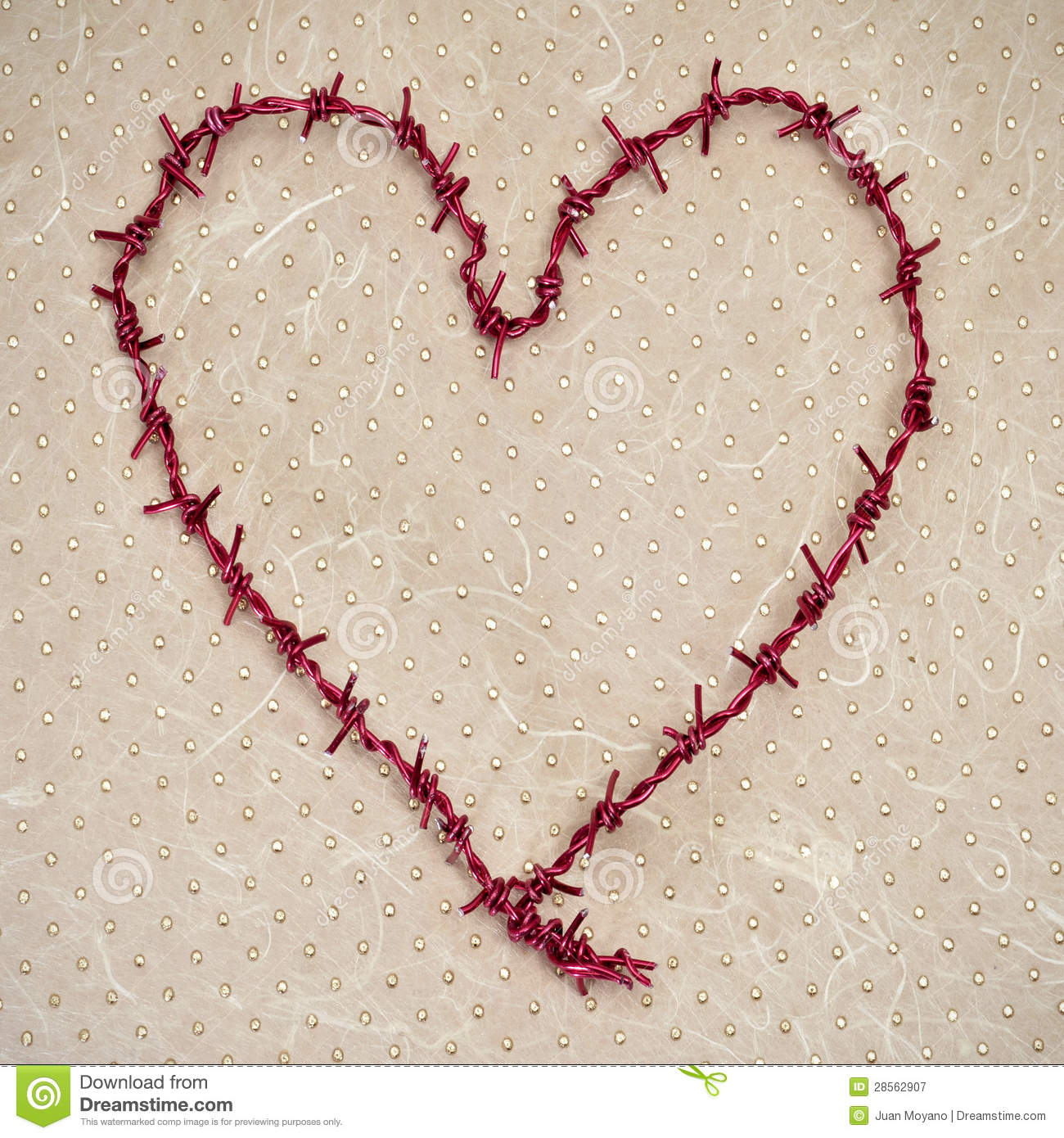 Heart Shaped Barbed Wire Stock Images - 32 Photos