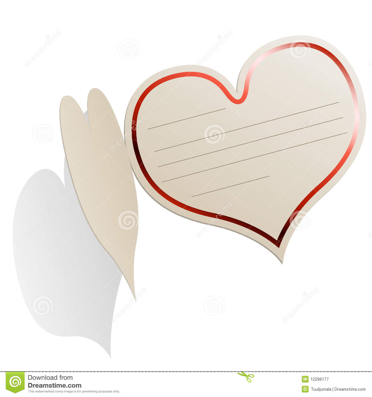 Heart Shaped Blank Card Royalty Free Stock Photography ...