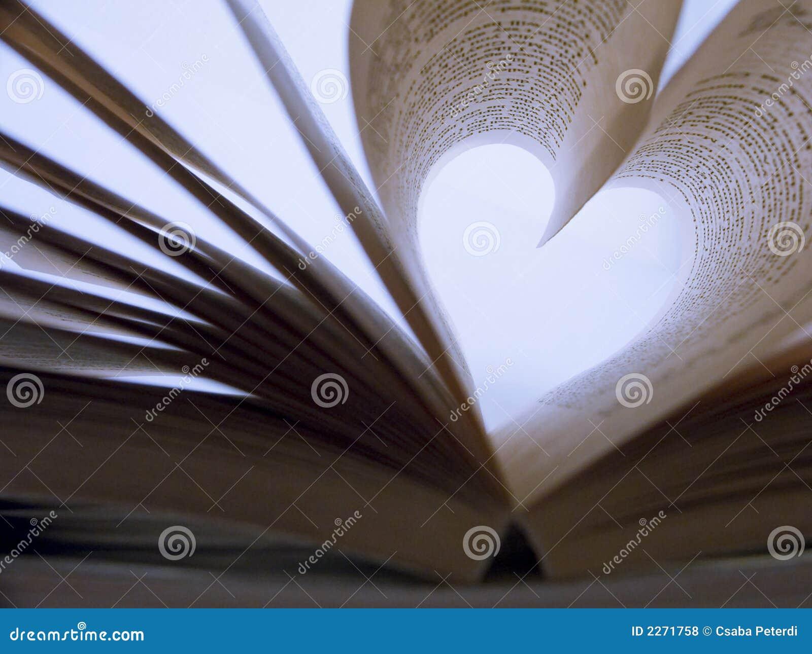 Heart shaped book