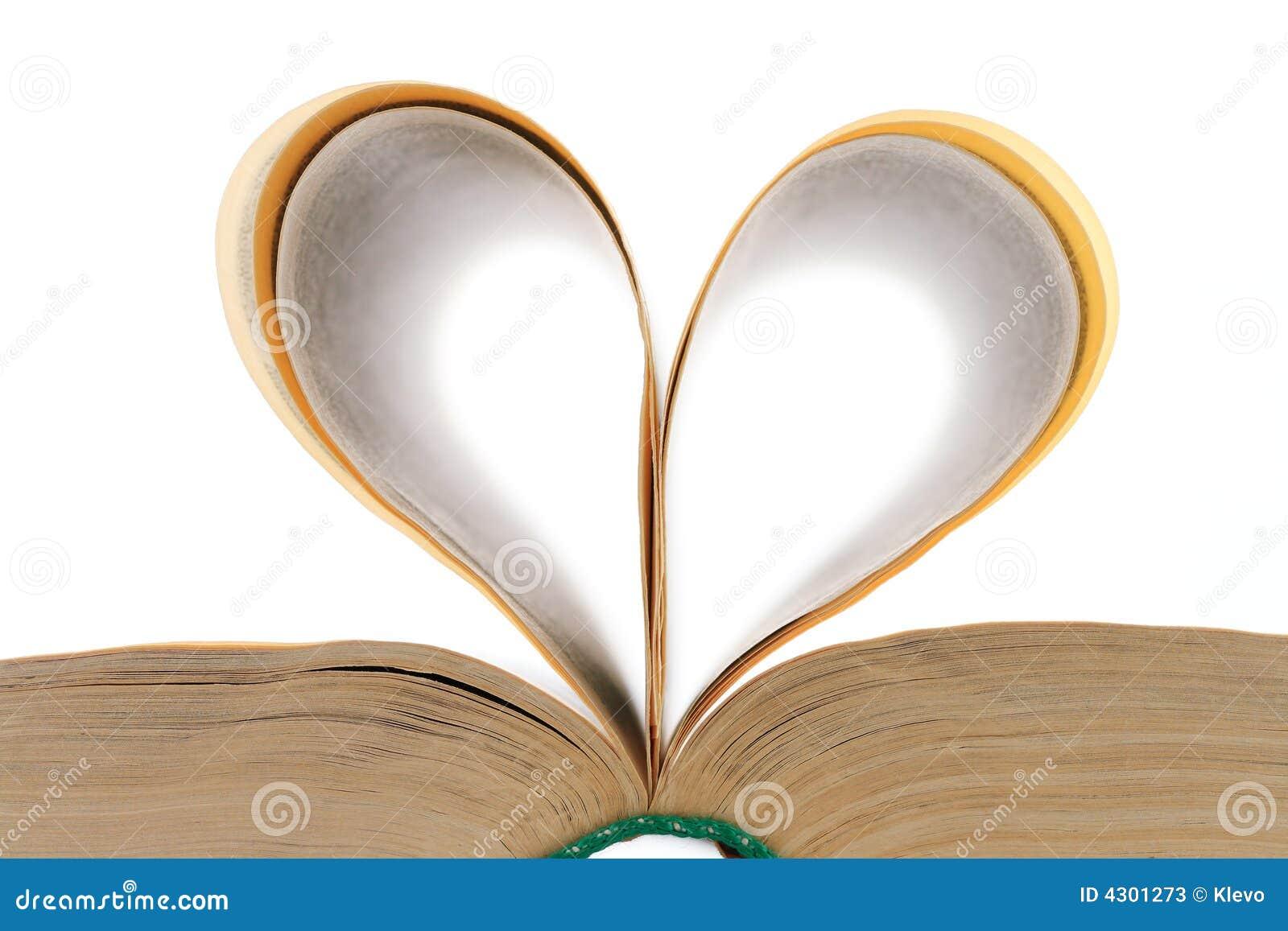 Heart shaped book leaves