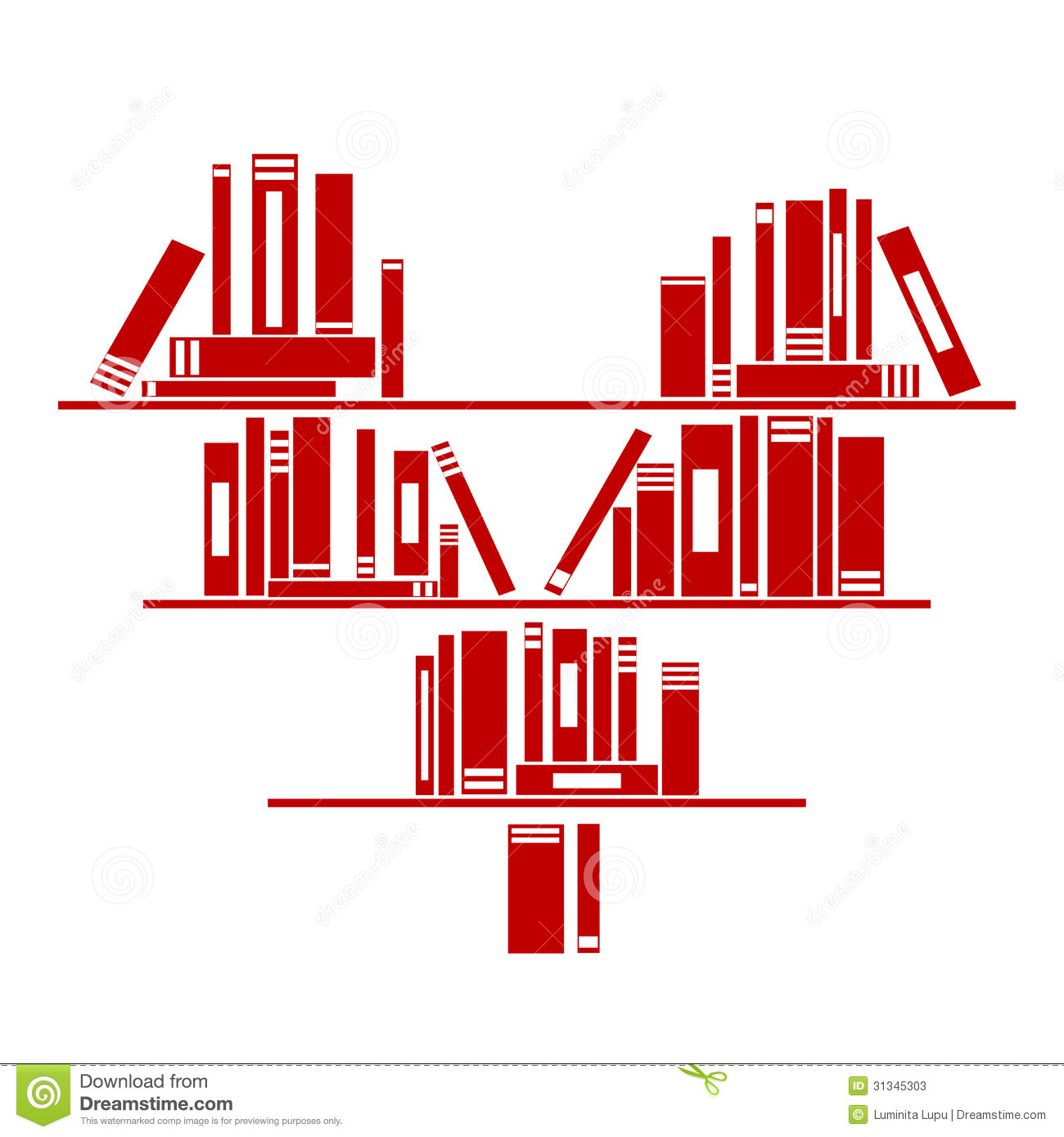 Heart Shaped Book Shelf With Books Stock Photos - Image: 31345303