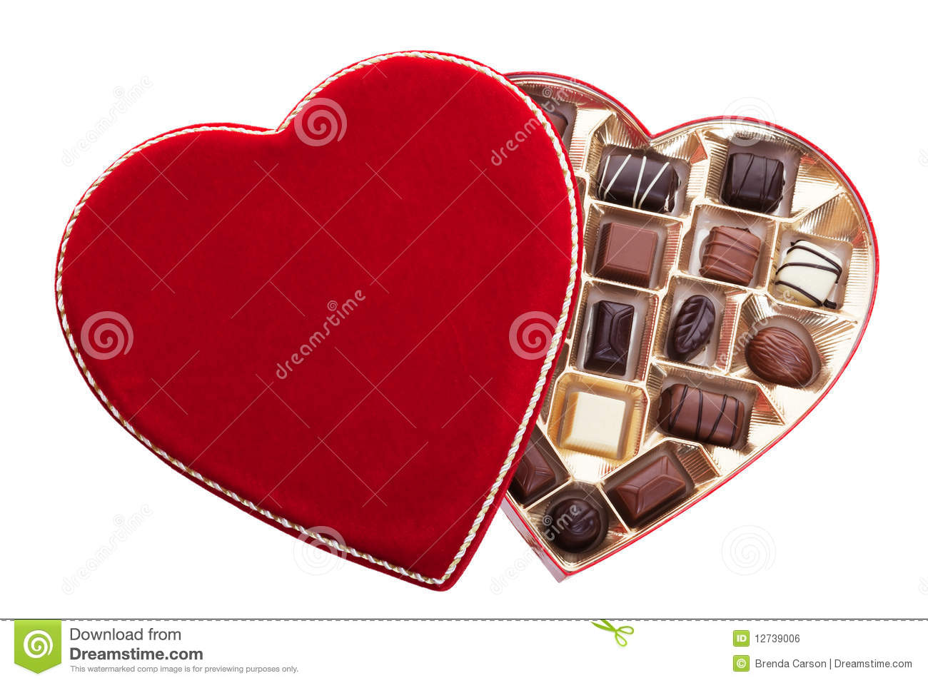 Heart Shaped Box Of Chocolates Royalty Free Stock Image ...