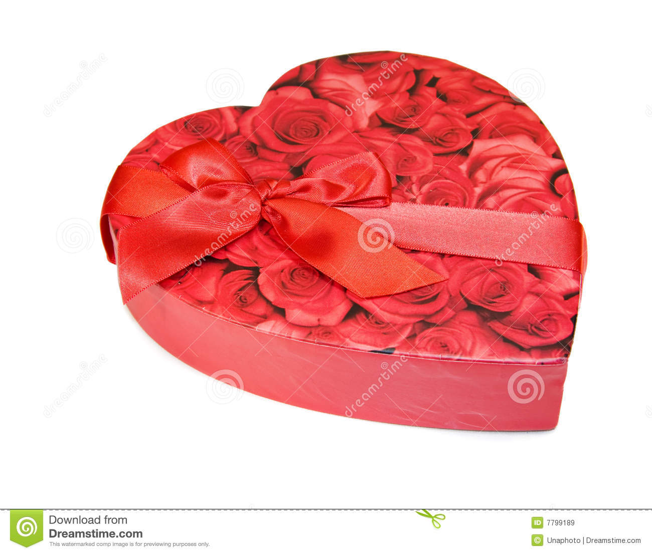 Heart shaped box of chocolates with red roses