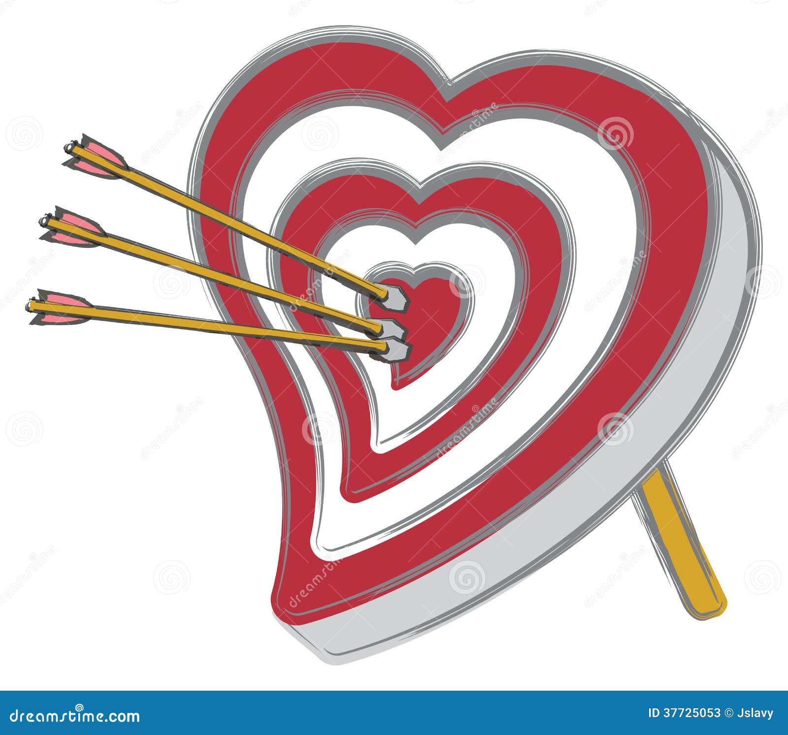 Heart shaped bullseye stock vector illustration of archery 37725053 heart shaped bullseye altavistaventures Image collections