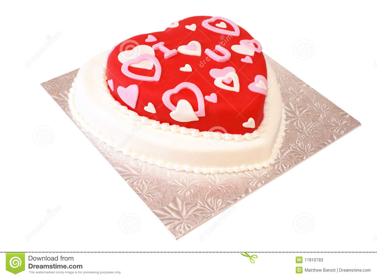 Heart Shaped Cake Stock Photos : Heart Shaped Cake Stock Photos - Image: 17810793