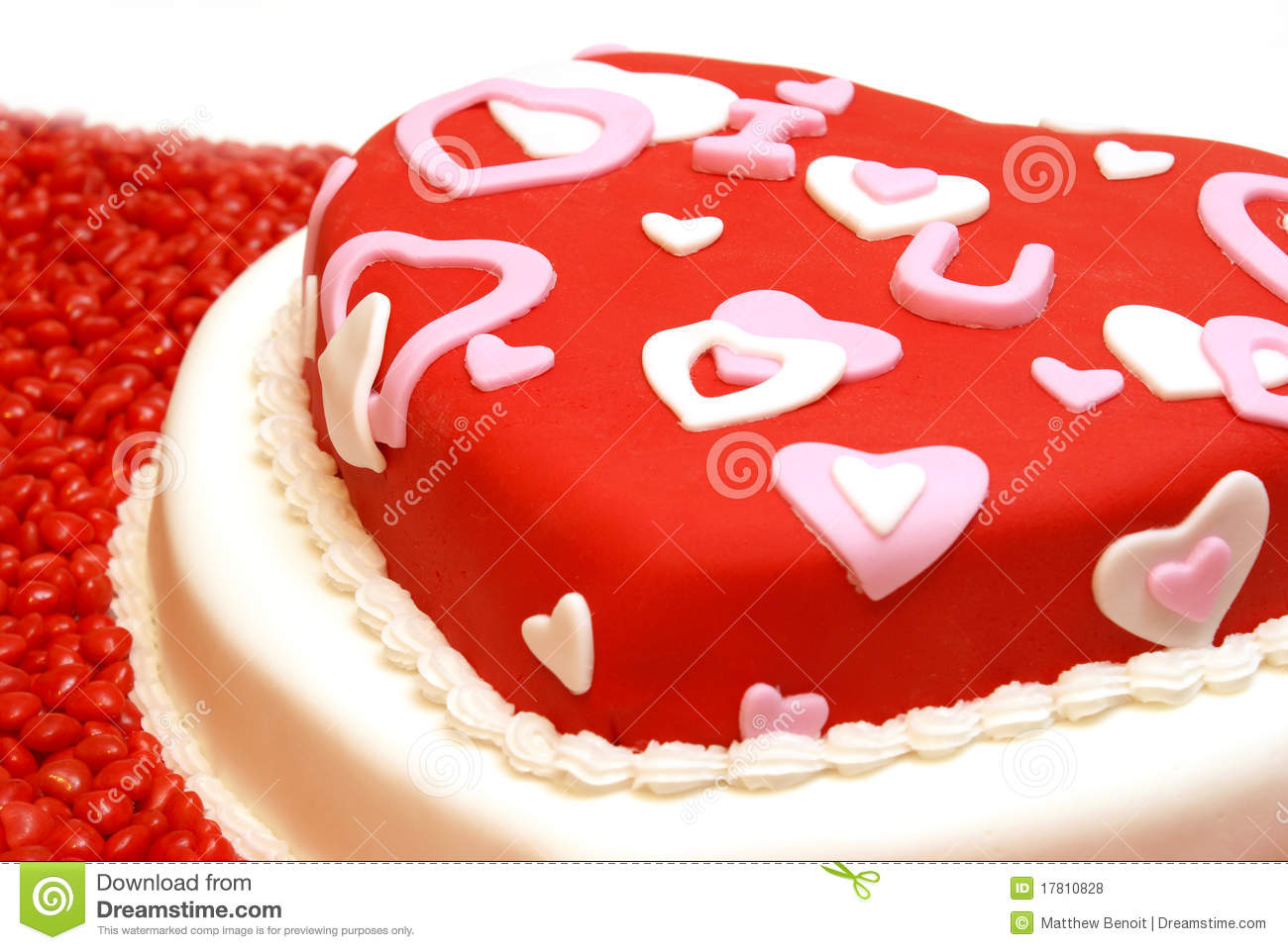 Heart Shaped Cake Stock Photos : Heart Shaped Cake Royalty Free Stock Photos - Image: 17810828