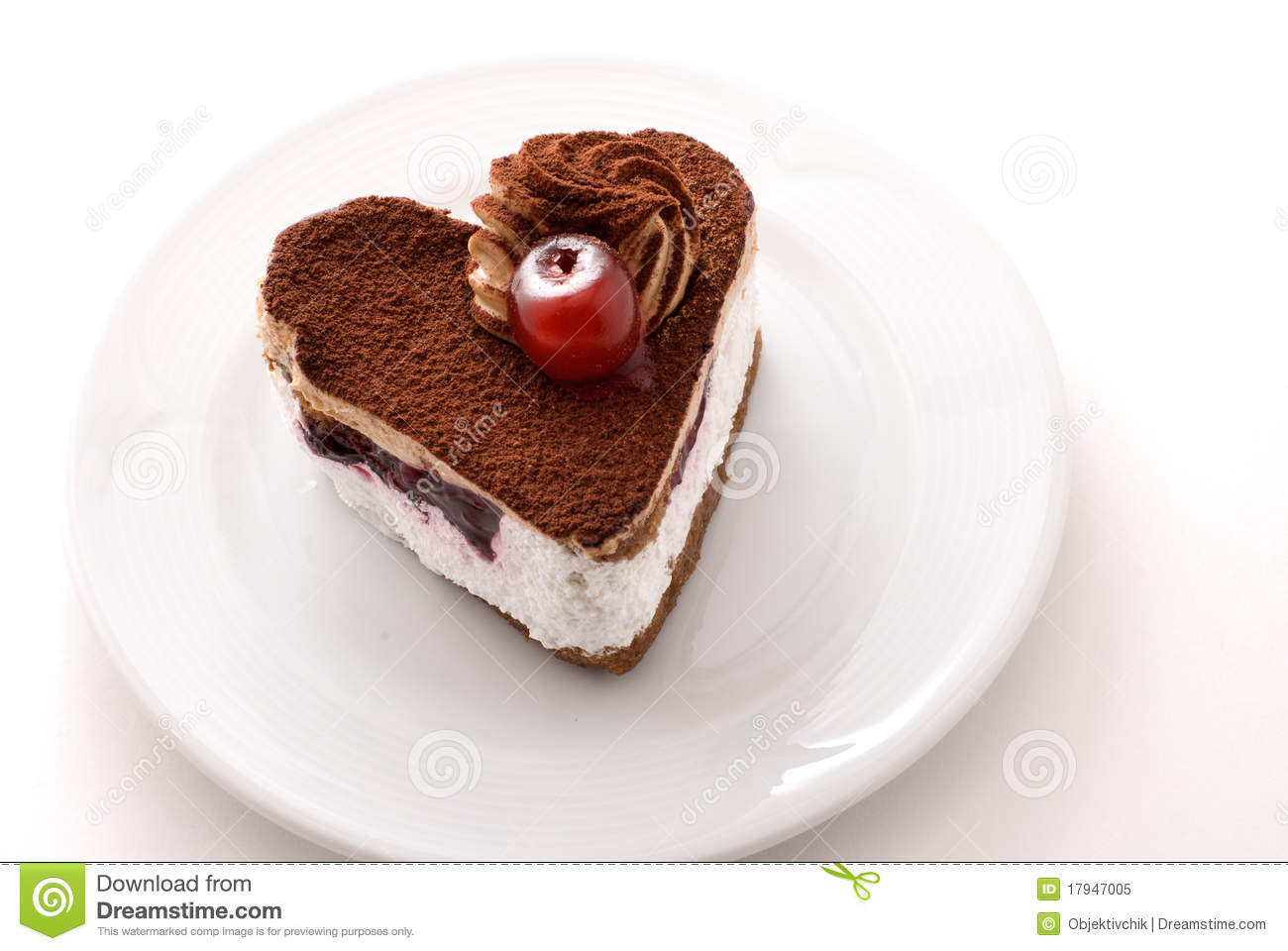 Heart Shaped Cake Stock Photos : Heart Shaped Cake Royalty Free Stock Photo - Image: 17947005