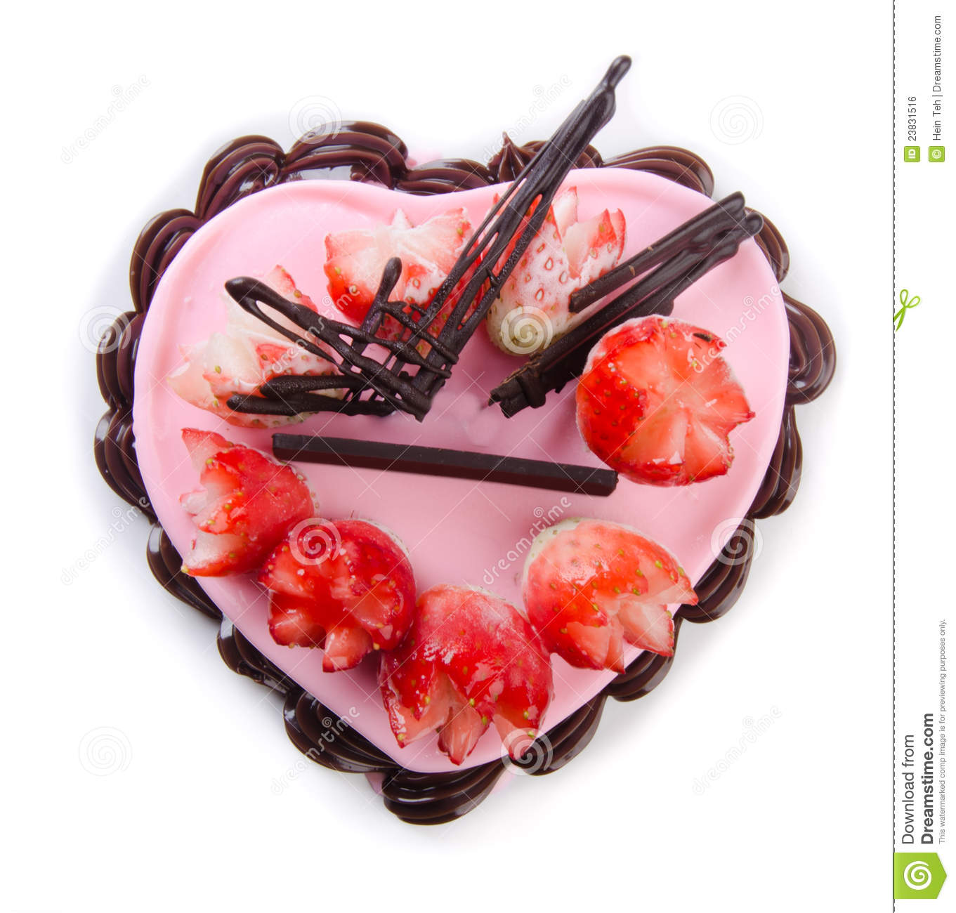 Heart Shaped Cake Stock Photos : Heart Shaped Cake Royalty Free Stock Image - Image: 23831516