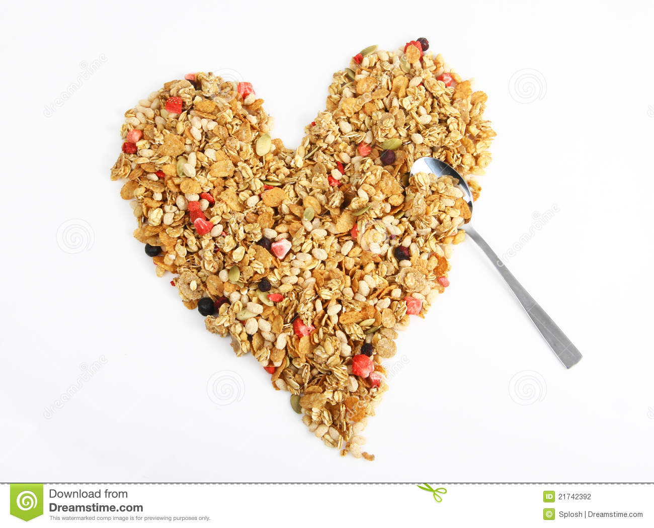 heart shaped cereal stock photo image of delicious dairy 21742392