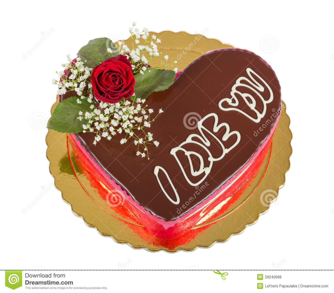 Heart Shaped Cake Stock Photos : Heart Shaped Chocolate Cake Isolated Stock Photo - Image ...
