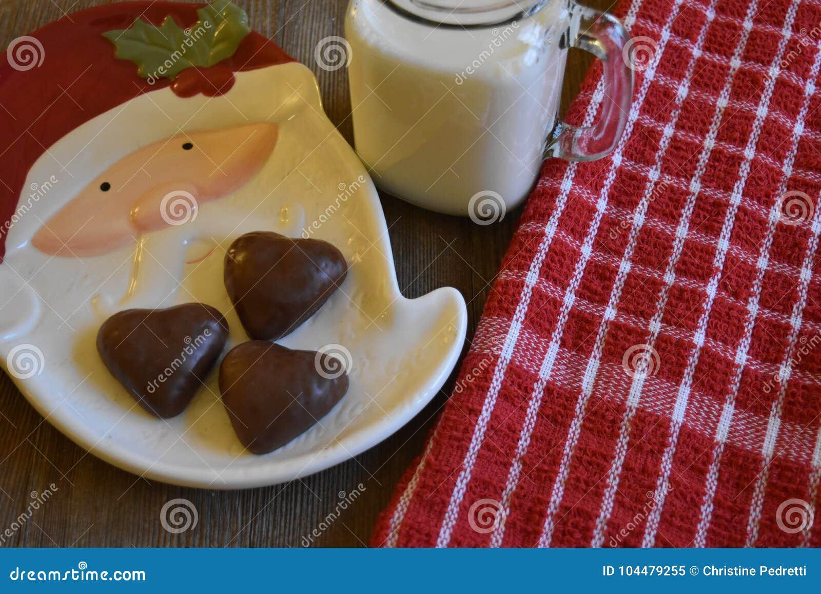 Cookies And Milk For Santa Stock Image Image Of Santa 104479255
