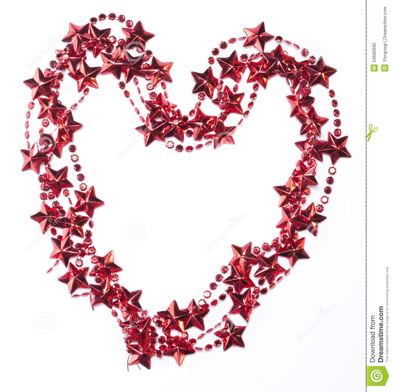 heart shaped christmas frame stock photo