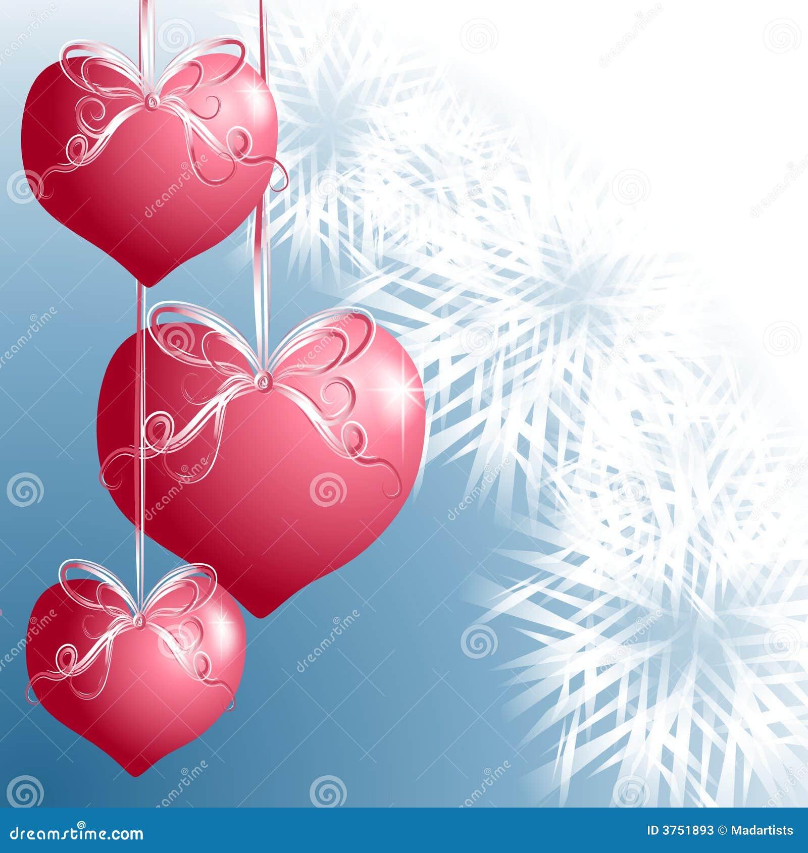 heart shaped christmas ornaments stock illustration illustration