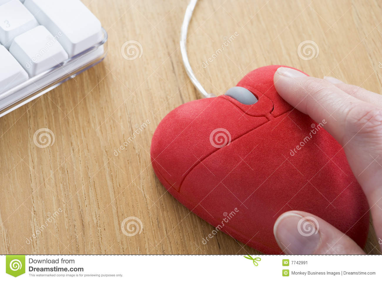 87dc3b5494a Heart-Shaped Computer Mouse Stock Image - Image of computer ...