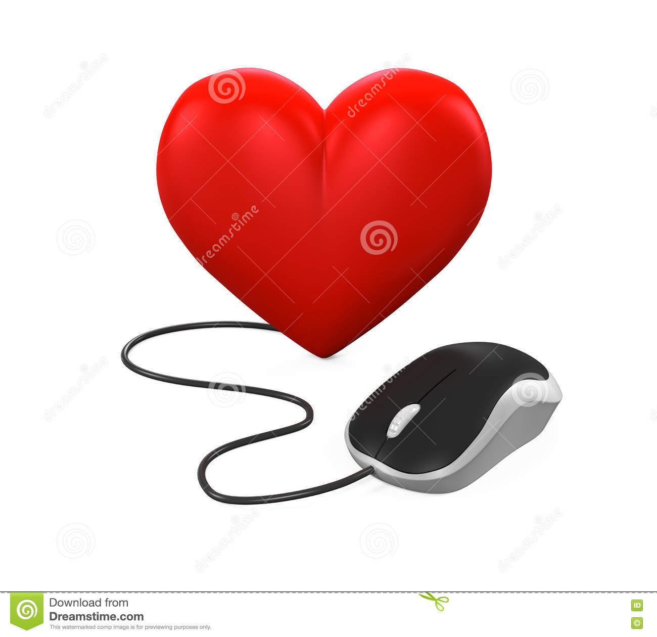 3bca1956050 Heart Shaped And Computer Mouse Stock Illustration - Illustration of ...