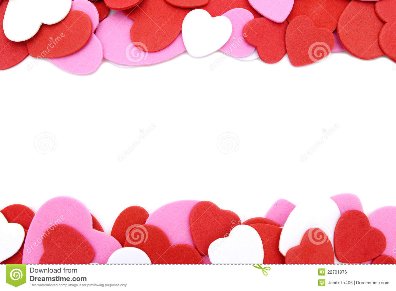 Heart-shaped Confetti Border Royalty Free Stock Image - Image ...
