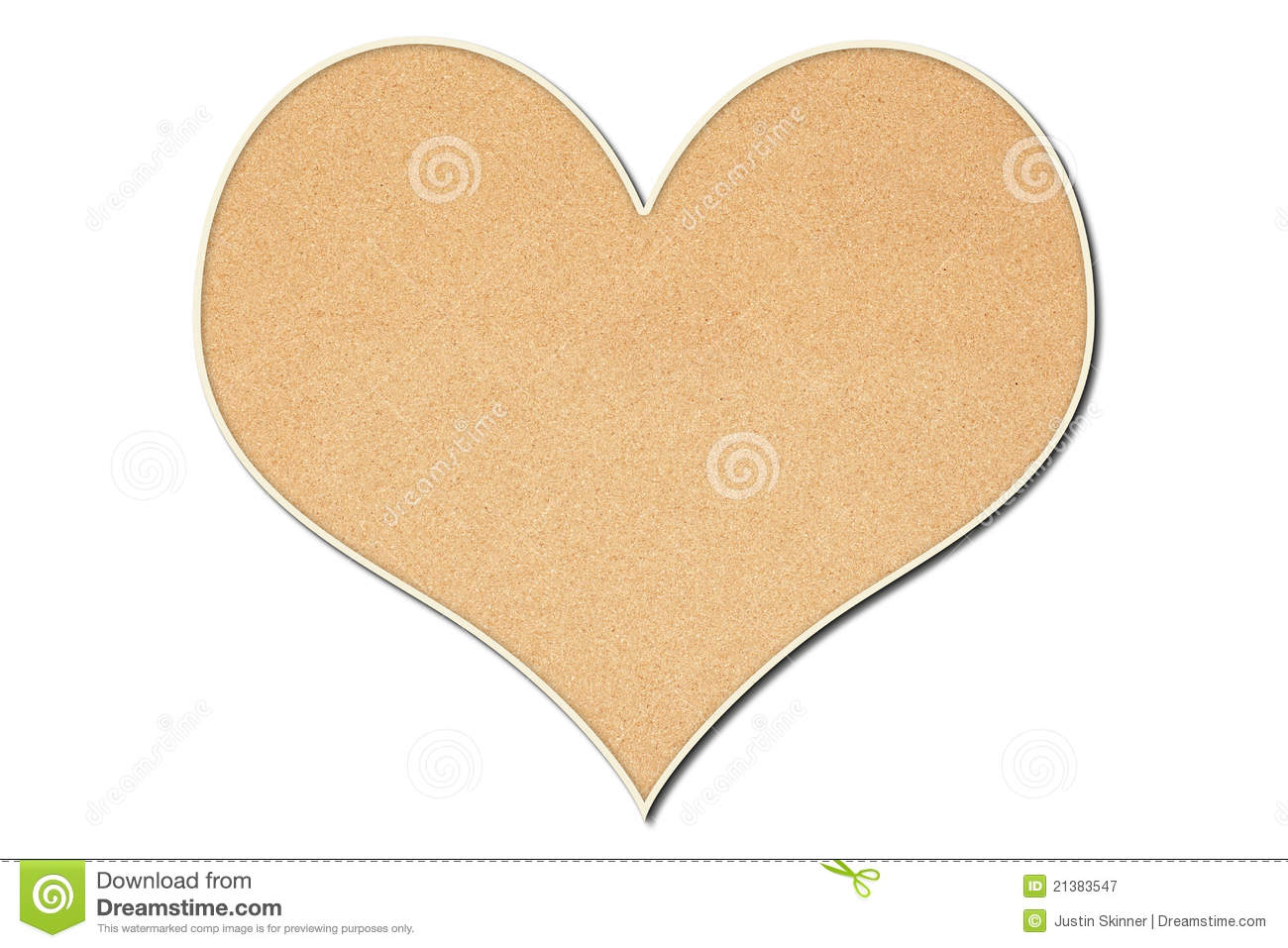 Heart shaped cork board royalty free stock photography for Heart shaped bulletin board