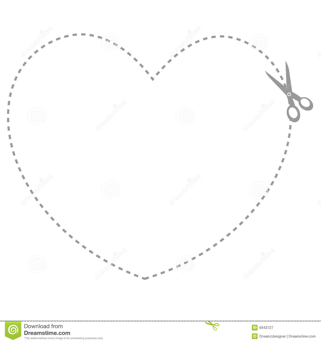Black And White Heart Shaped Border